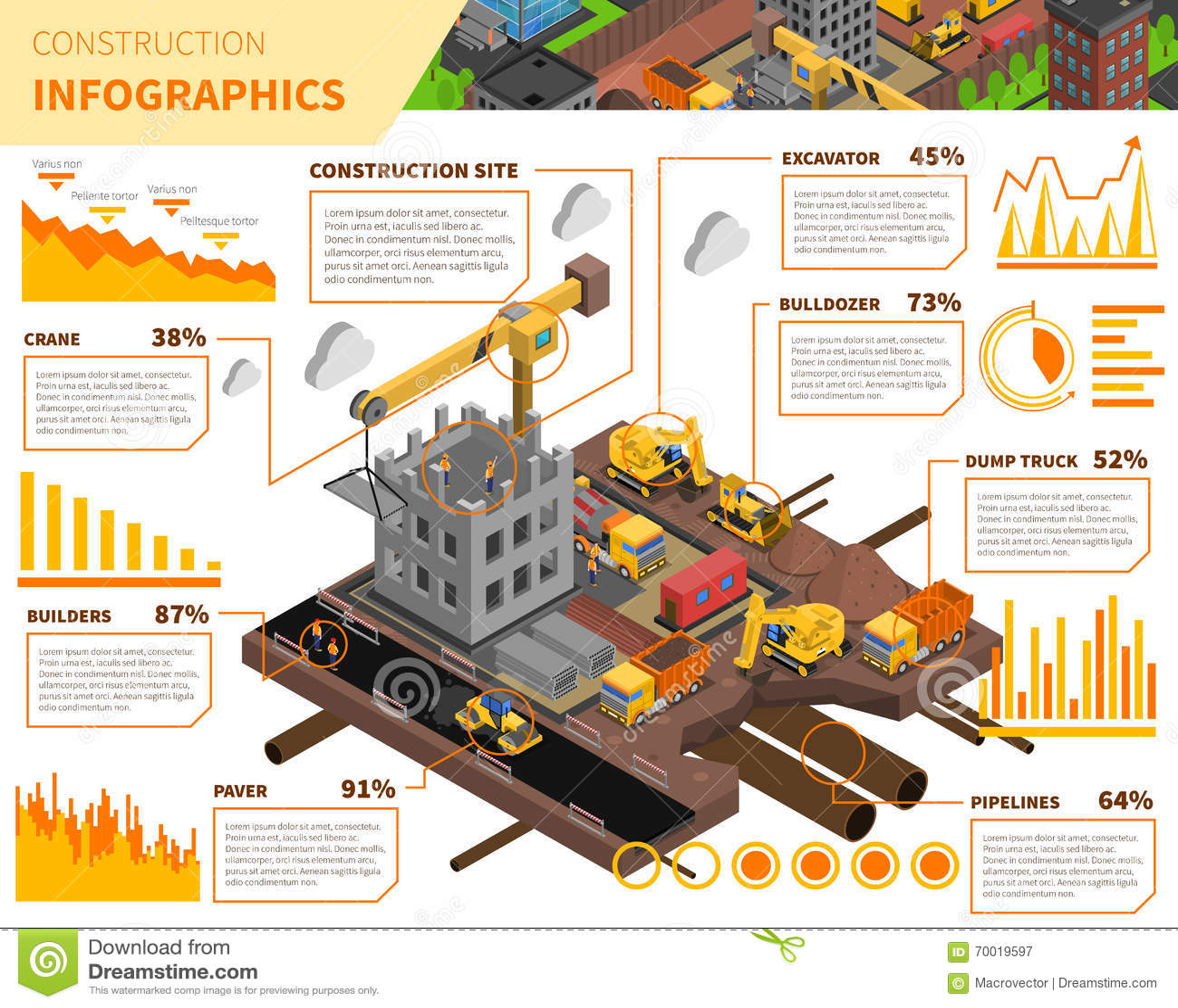 楼房建筑等量Infographics