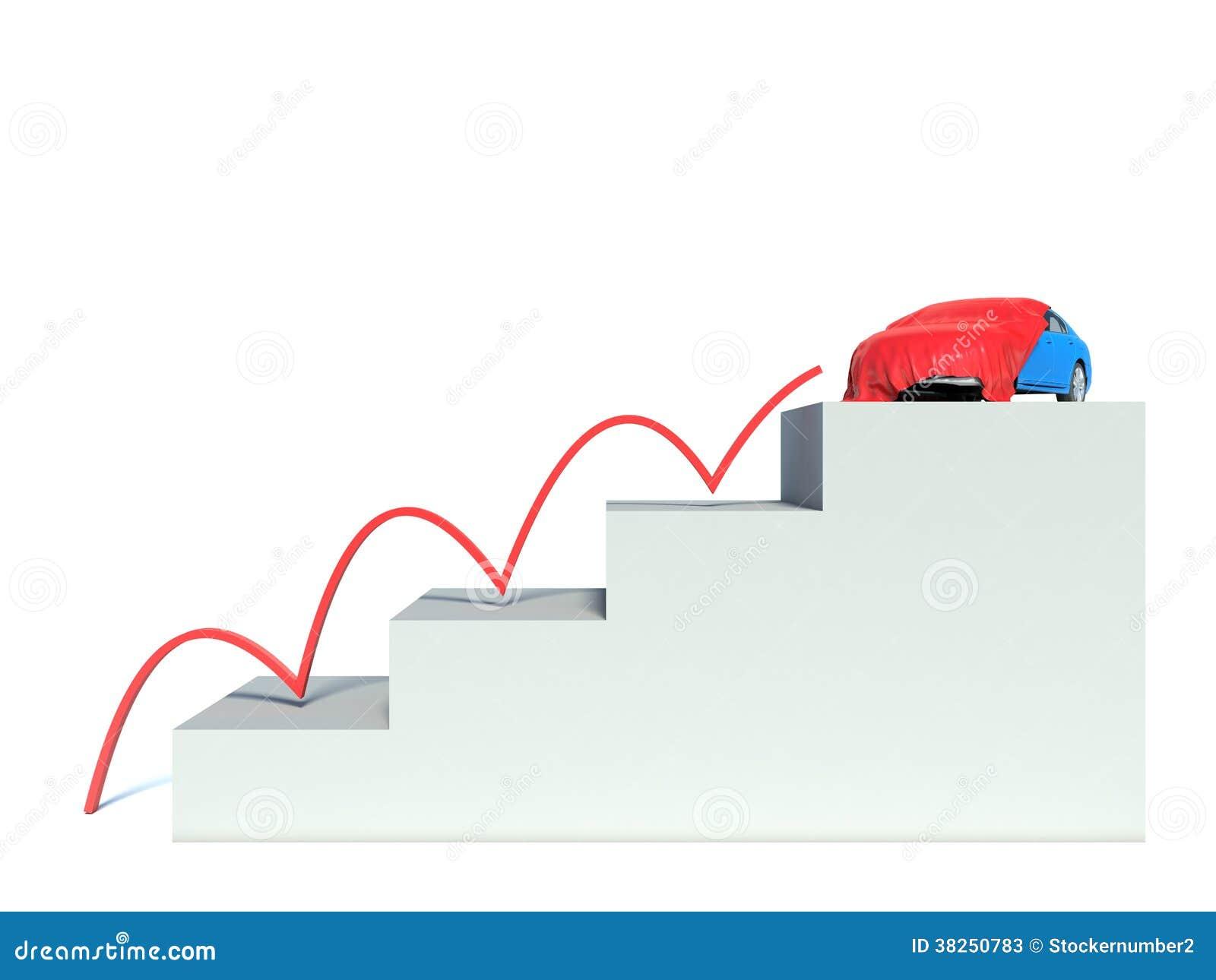 楼梯的抽象例证对汽车的