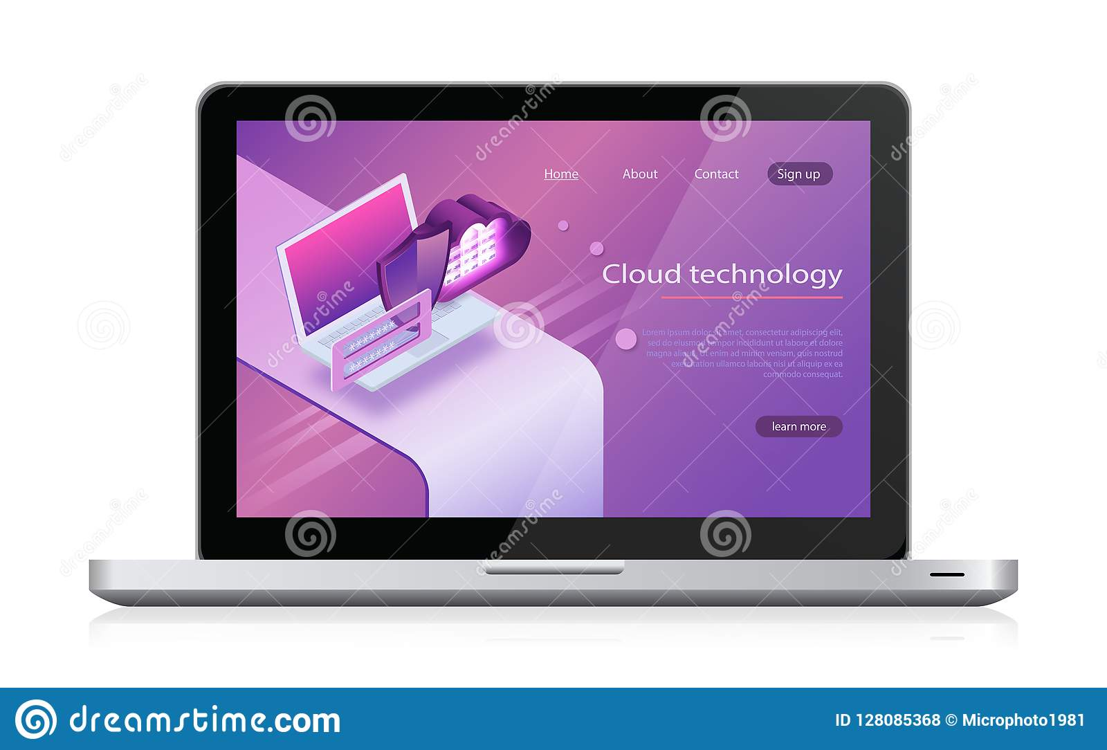 概念云彩存贮 等量传染媒介,网络主持和服务器室 云彩计算的服务概念膝上型计算机和网络服务器