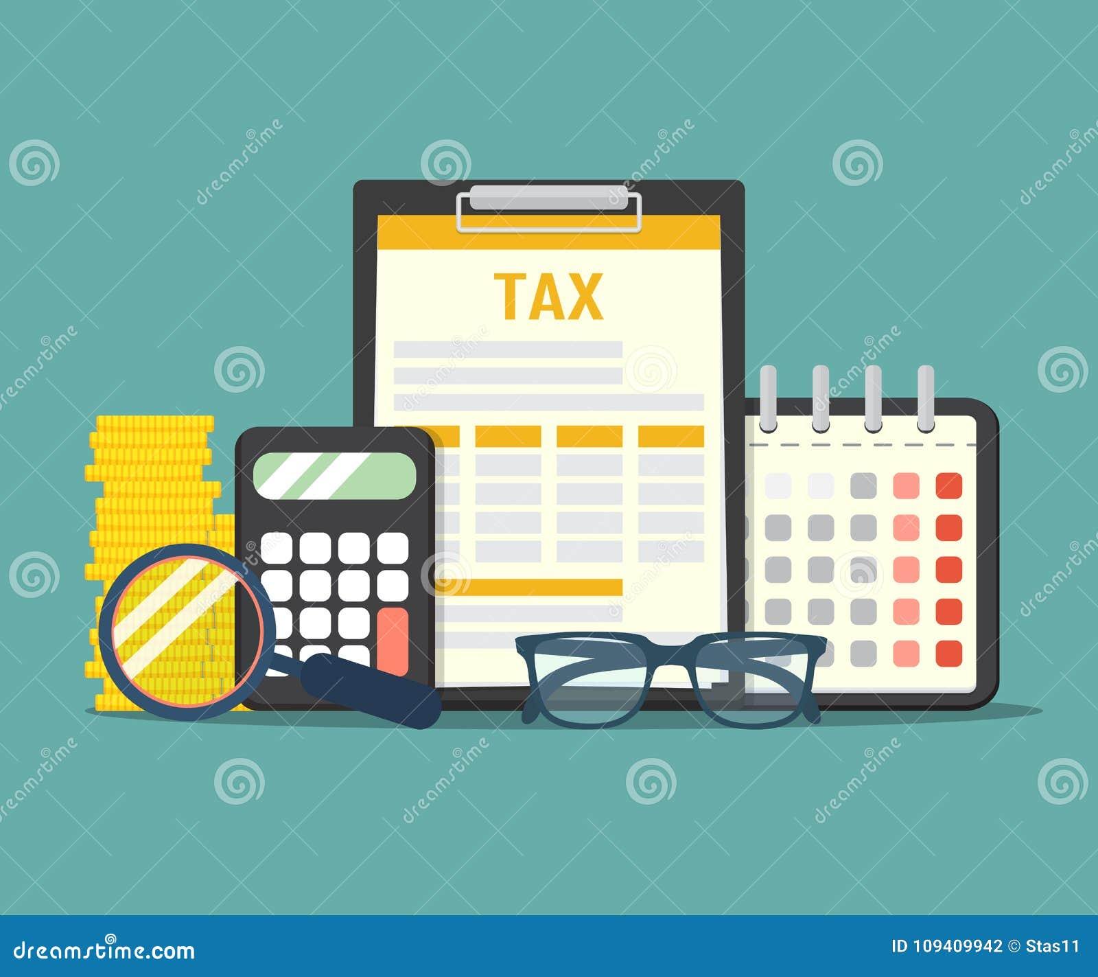 概念付税 数据分析、文书工作、金融研究纳税申报的报告和演算 债务的付款 传染媒介il