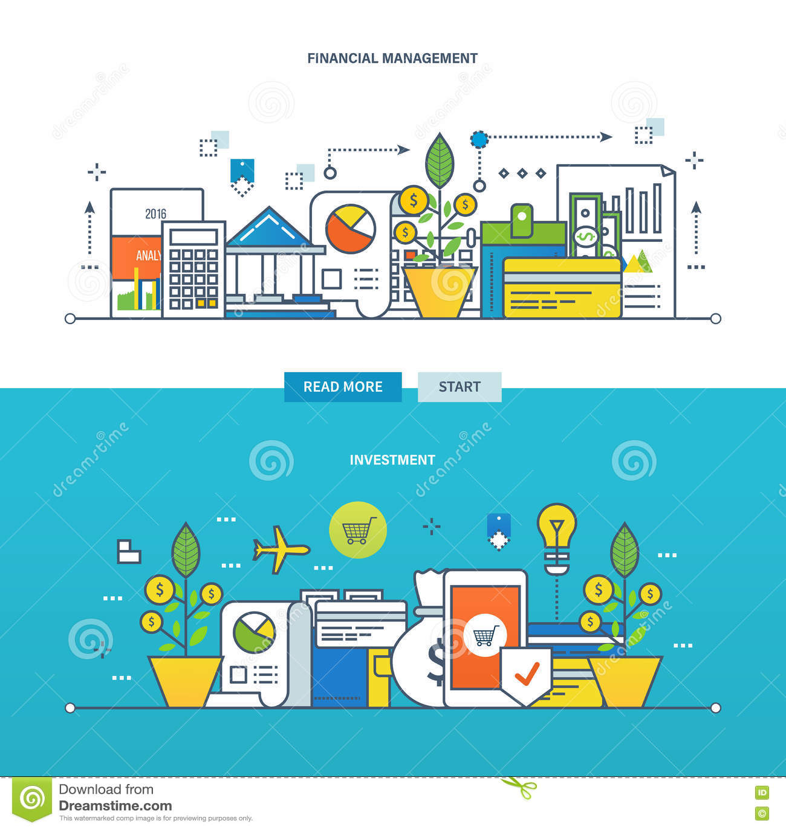 概念例证-投资,财务管理