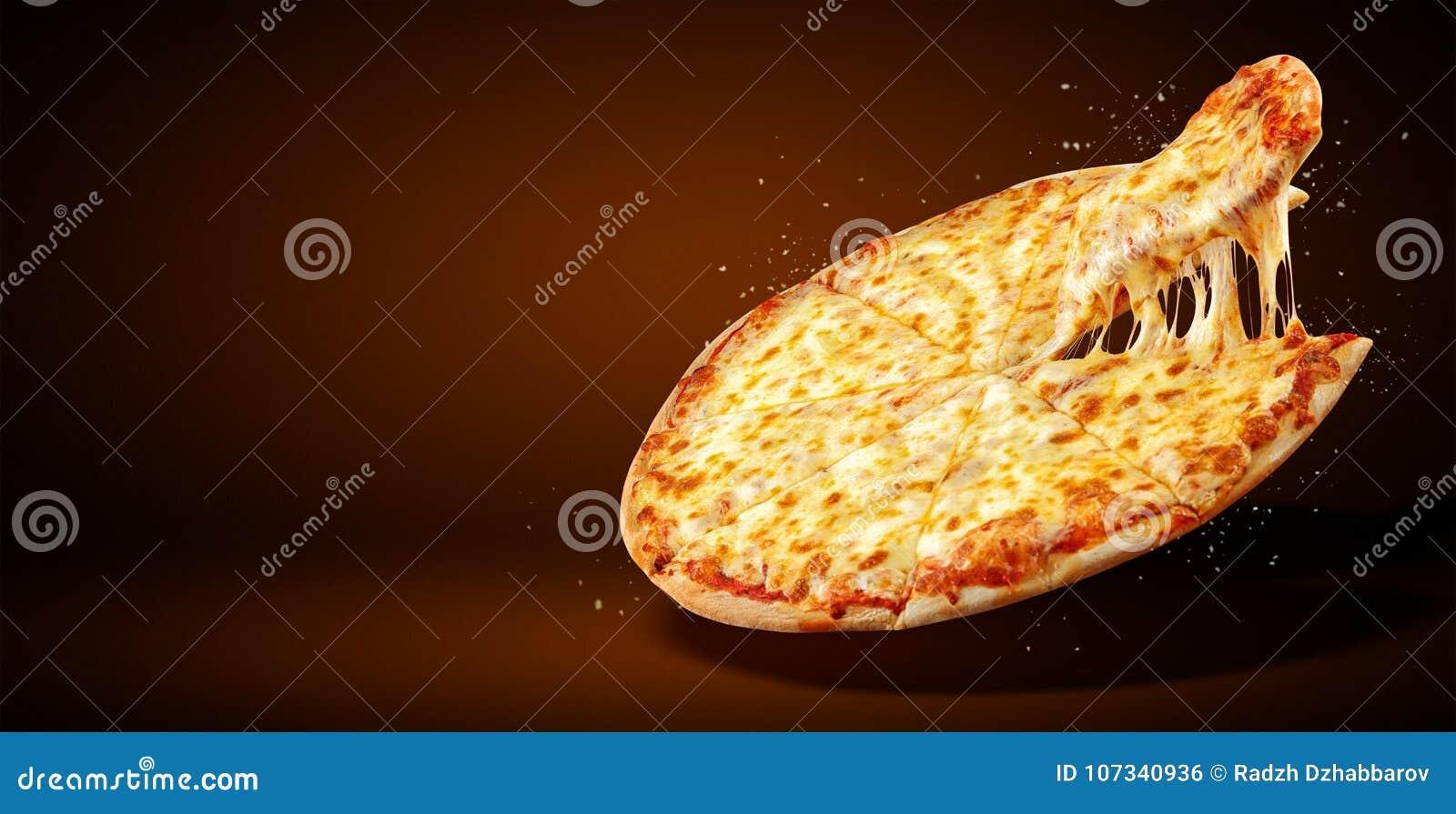 概念增进飞行物和海报餐馆或比萨店的,模板可口口味玛格丽塔酒薄饼,无盐干酪乳酪