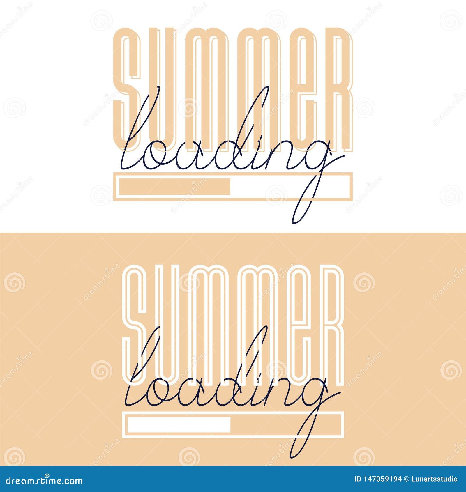 概念性手拉的字体词组夏天装货 海报的,T恤杉,卡片,邀请,贴纸,横幅书信设计,