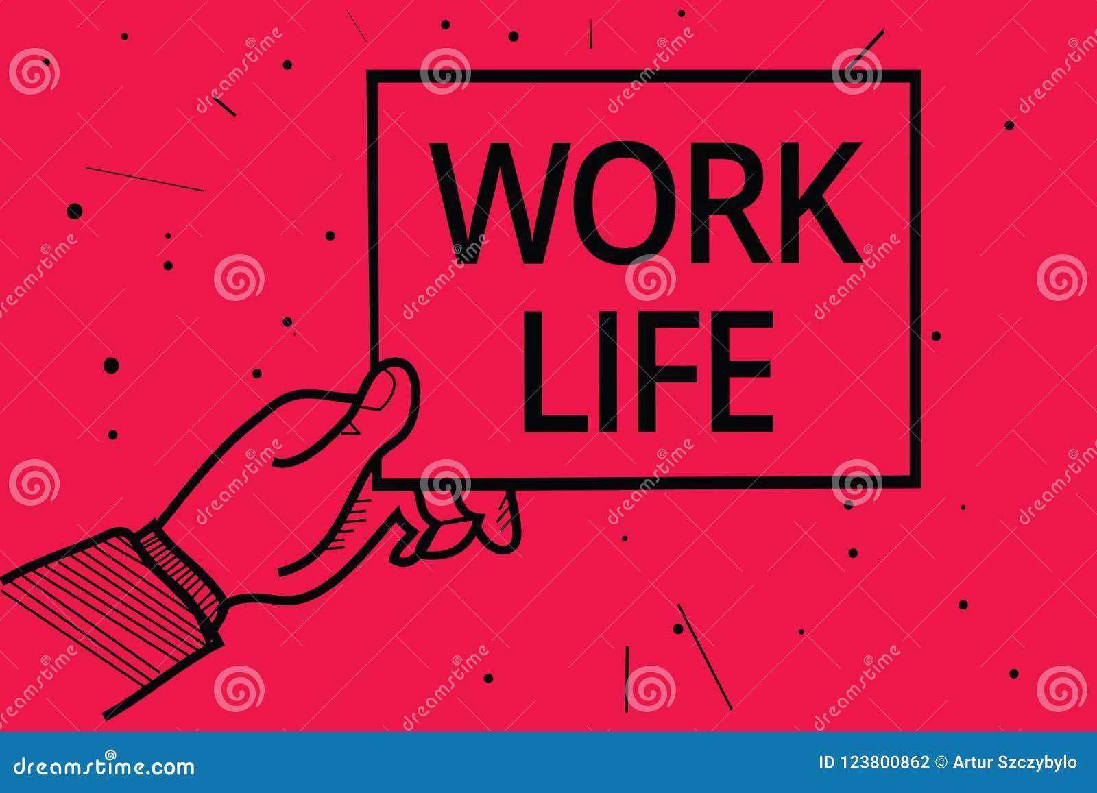 概念性手文字陈列工作生活 企业照片文本对ern金钱的每天任务承受你的自已人- H的需要