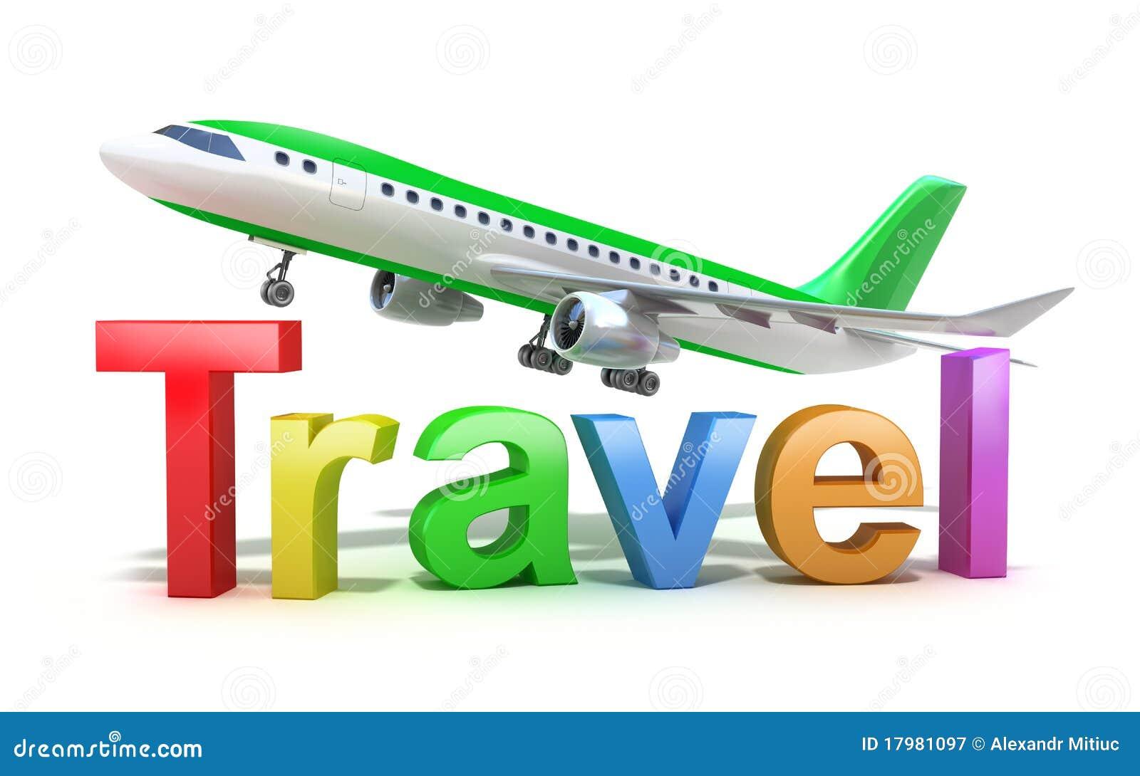 概念查出平面旅行白色字