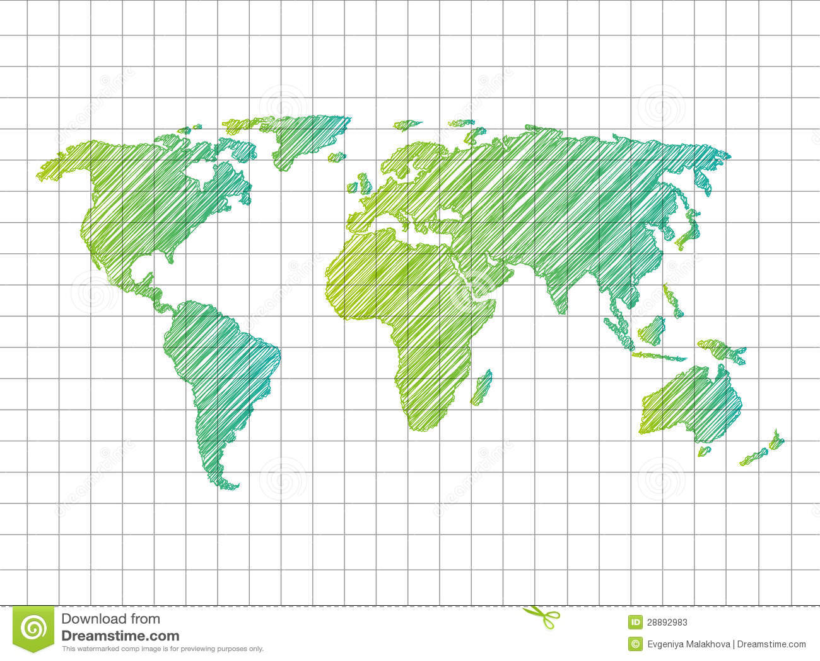 概略世界地图