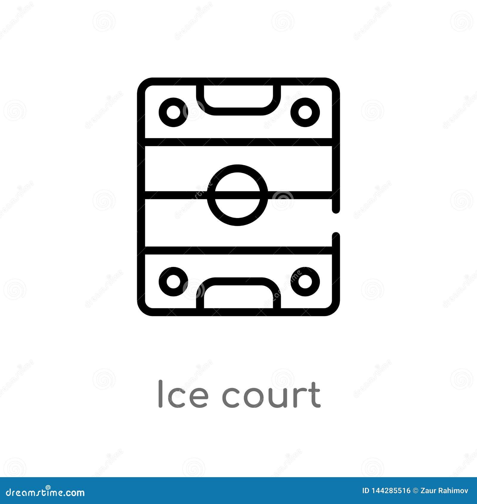 概述冰法院传染媒介象 E 编辑可能的传染媒介冲程冰