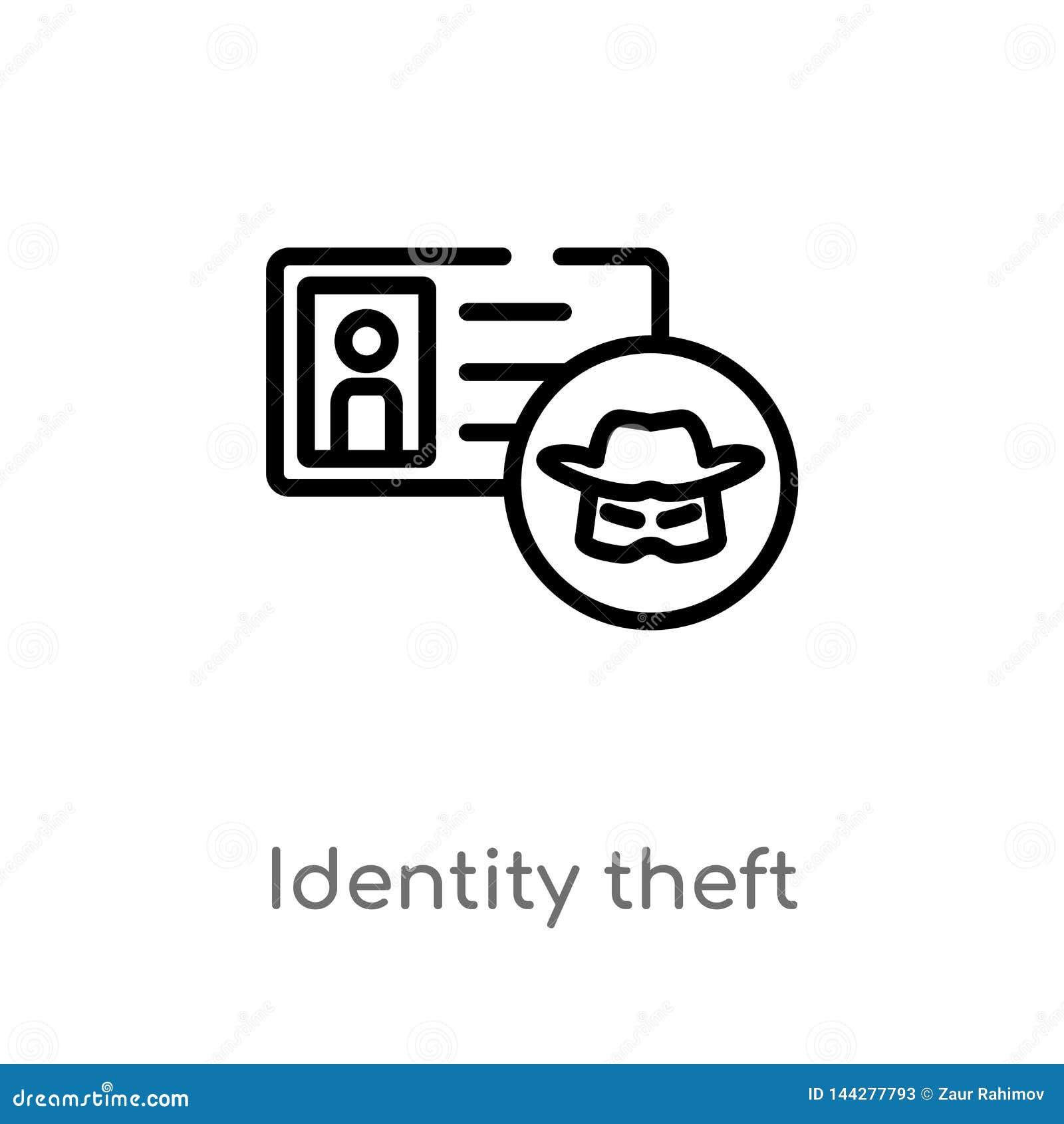 概述身份窃取传染媒介象 被隔绝的黑简单的从网络概念的线元例证 编辑可能的传染媒介冲程