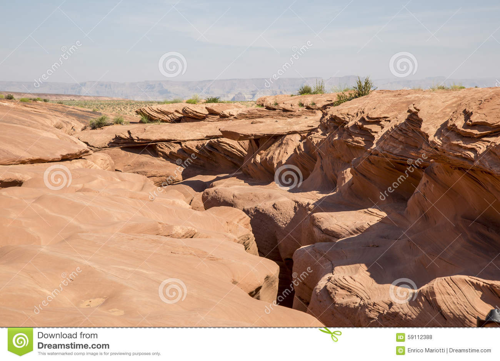 槽峡谷在亚利桑那