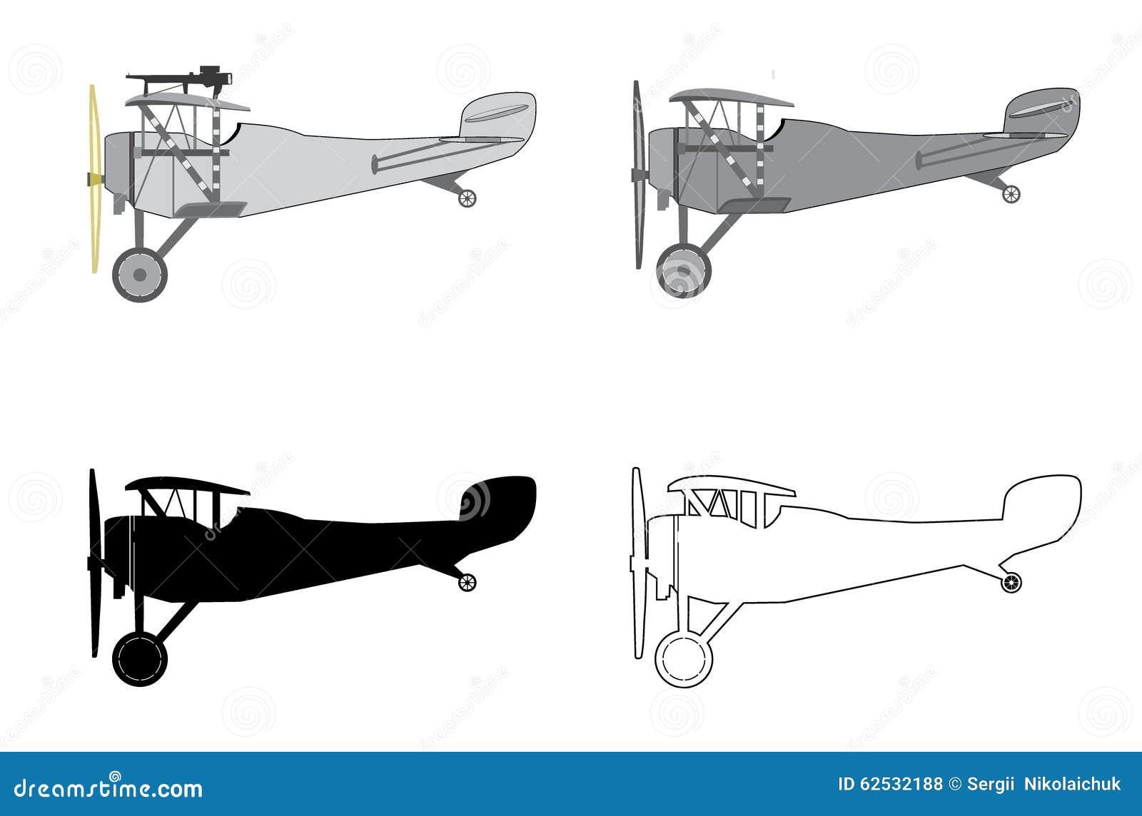 模型飞机减速火箭的双翼飞机