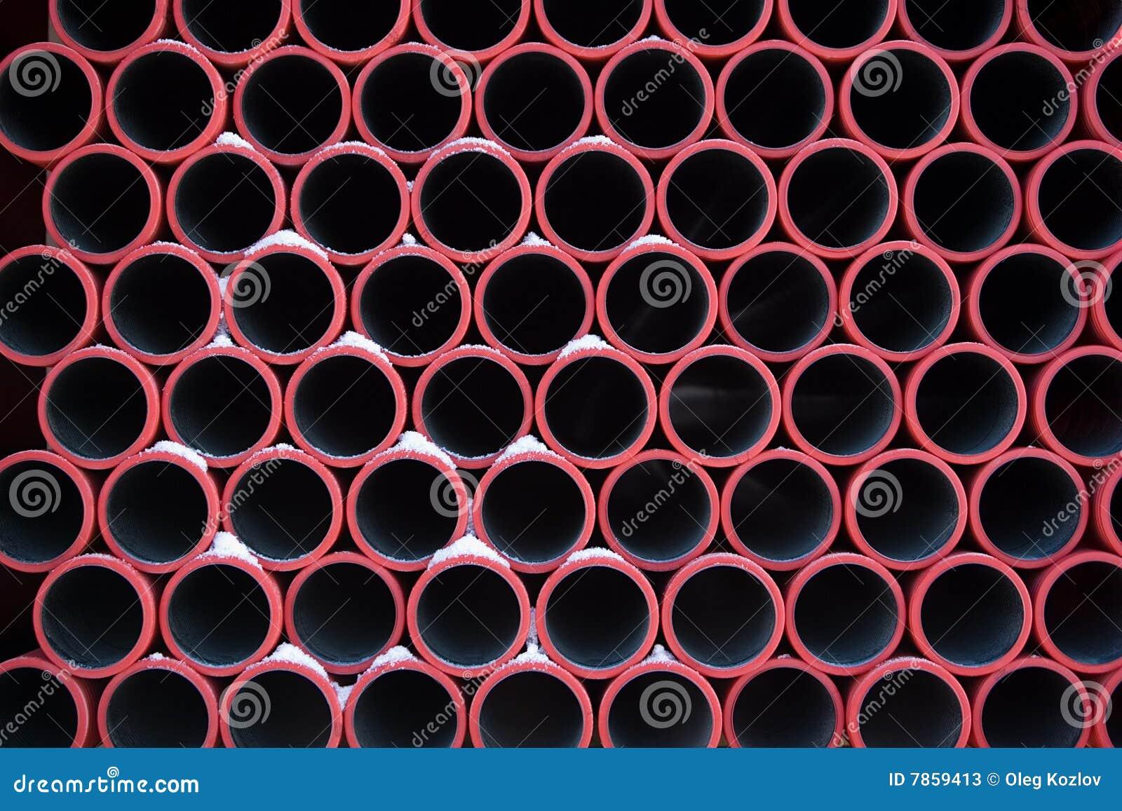 模式用管道输送红色