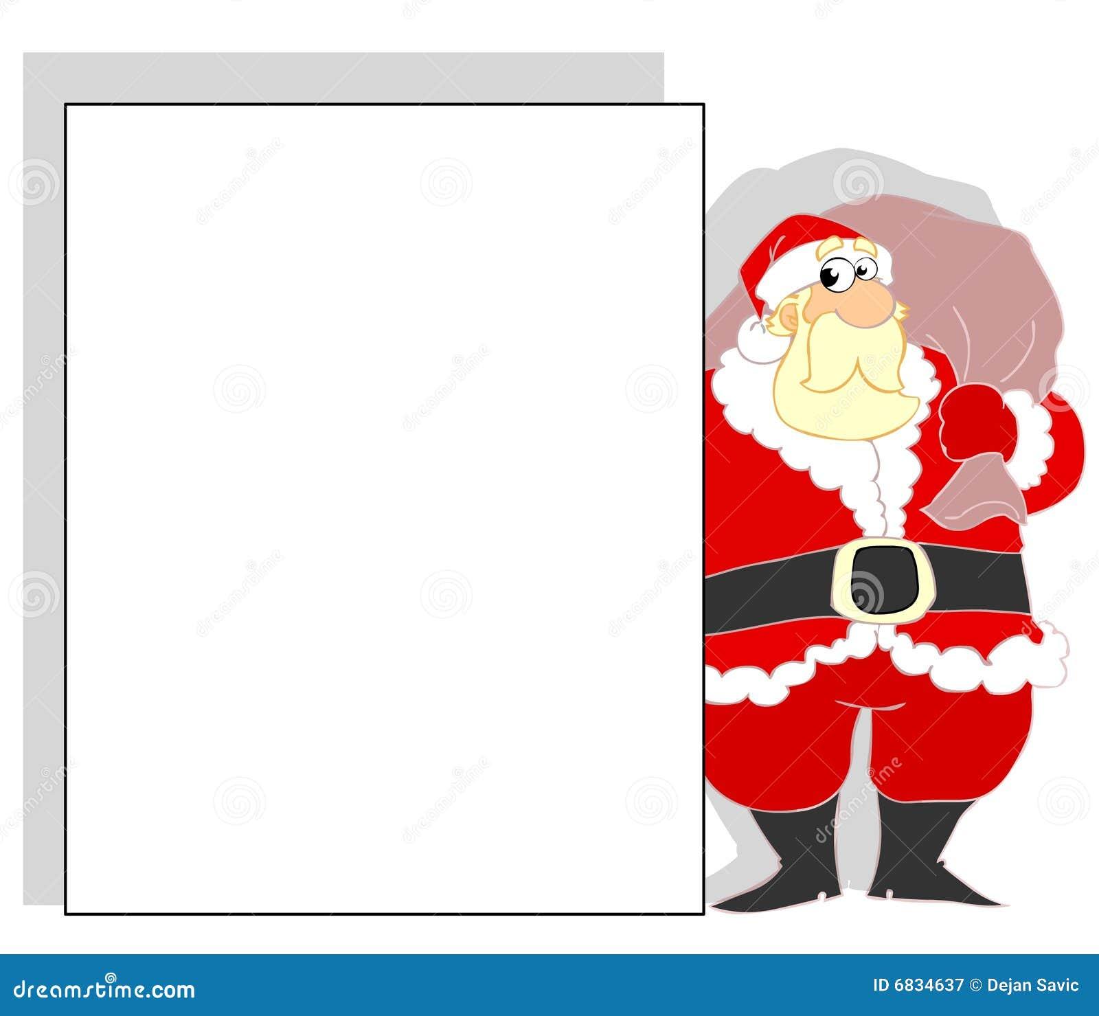 横幅圣诞老人