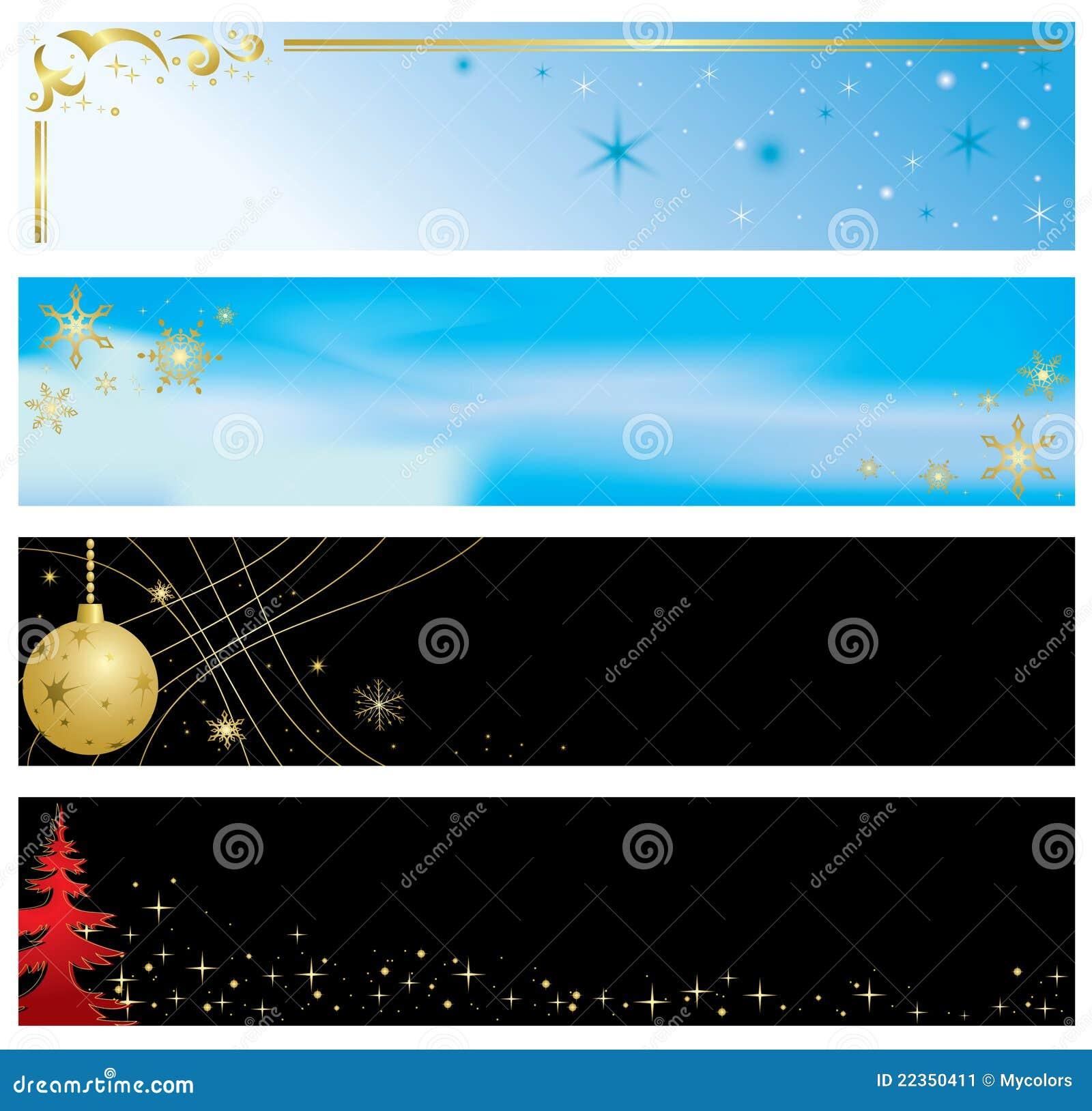横幅圣诞节彩色组向量