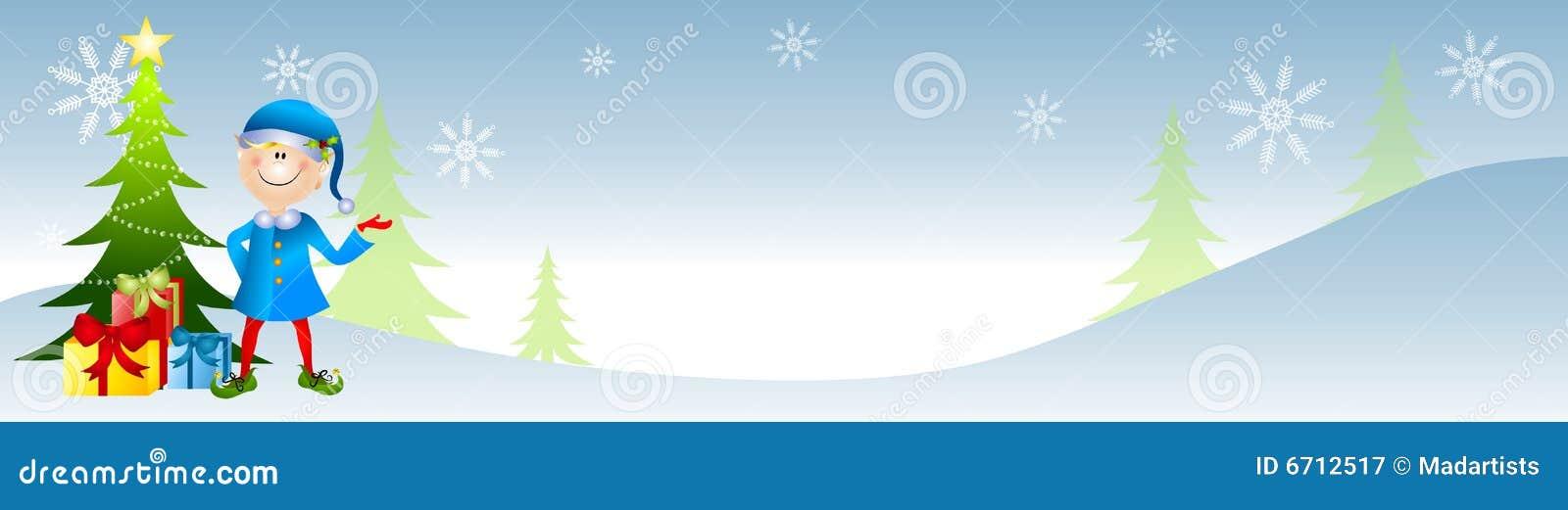 横幅圣诞节矮子