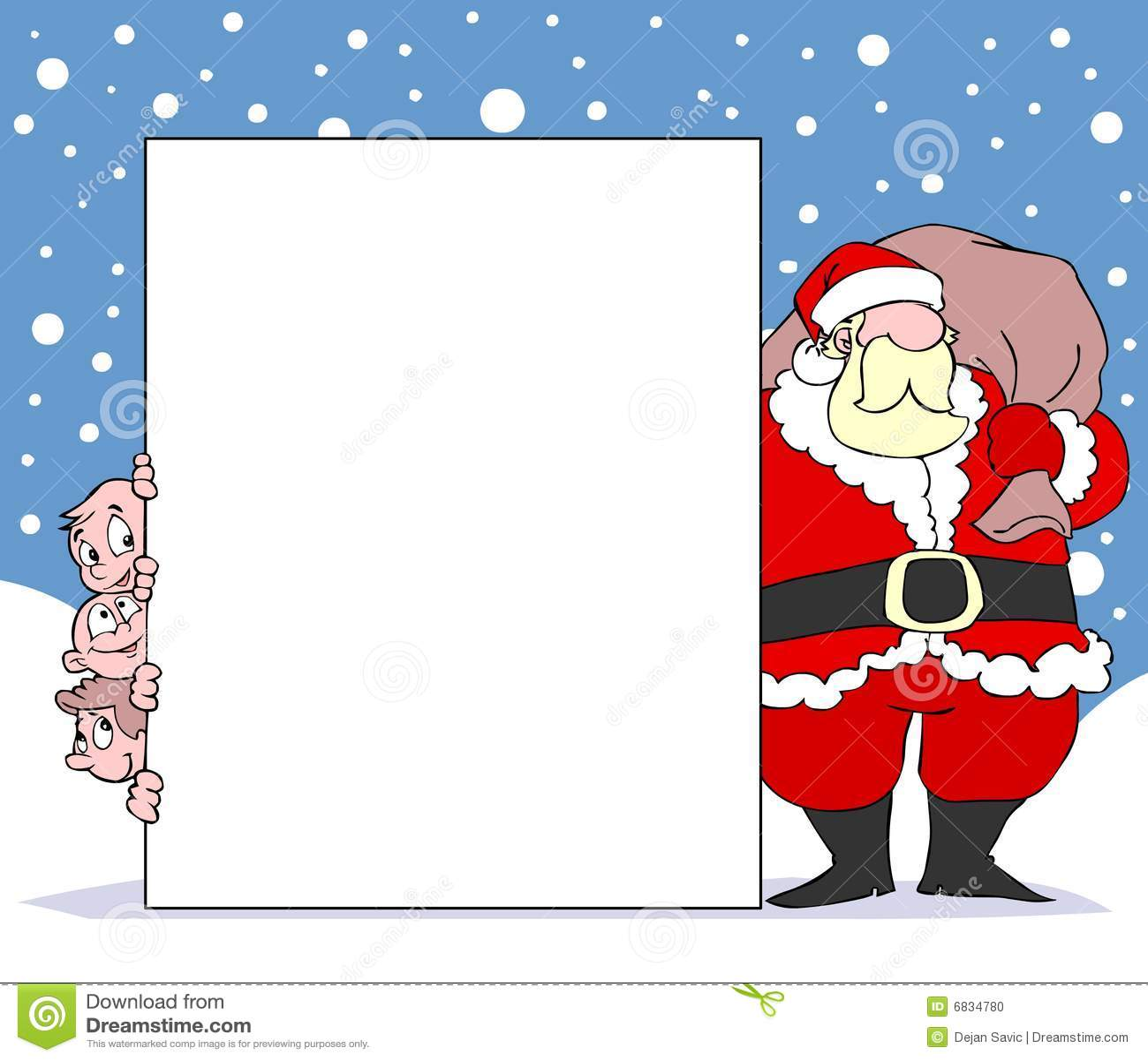 横幅开玩笑圣诞老人