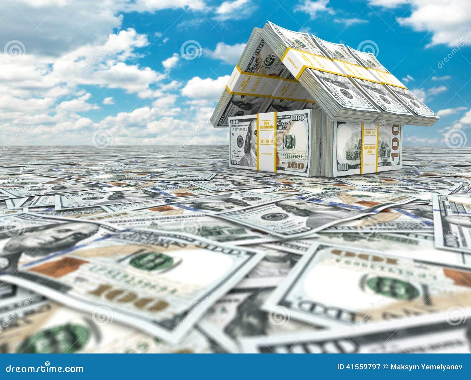 横幅提供资金的 从盒的议院在cloudscape的美元