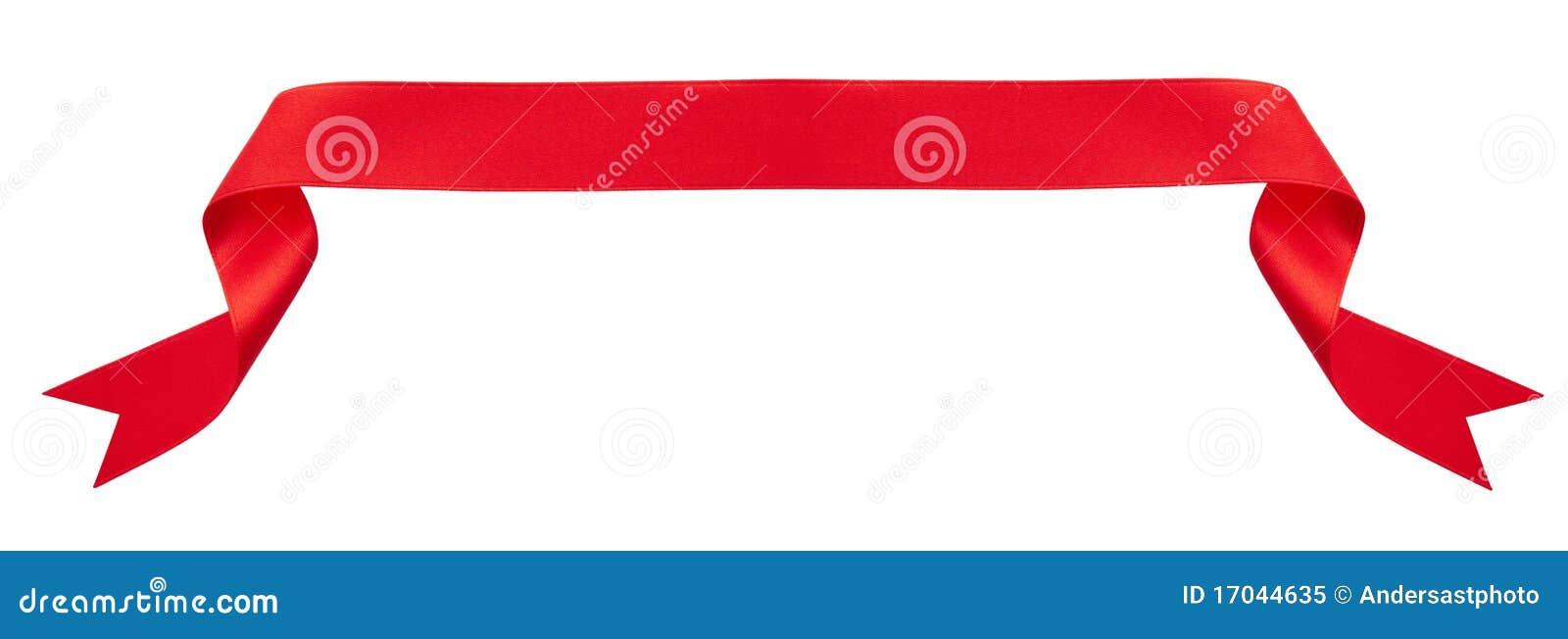 横幅红色丝带
