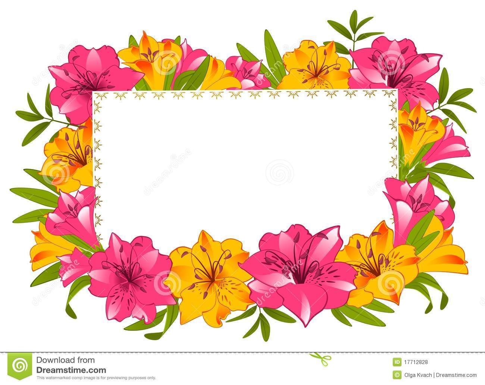 横幅美丽的花束百合