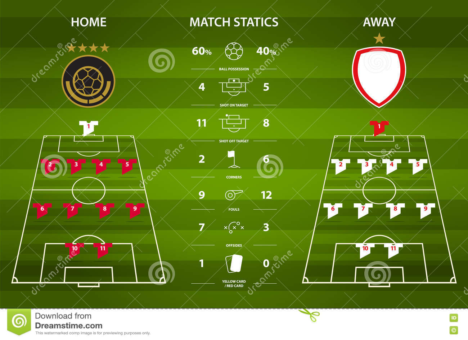 橄榄球或infographic足球比赛的统计 平的设计 也corel凹道例证向量