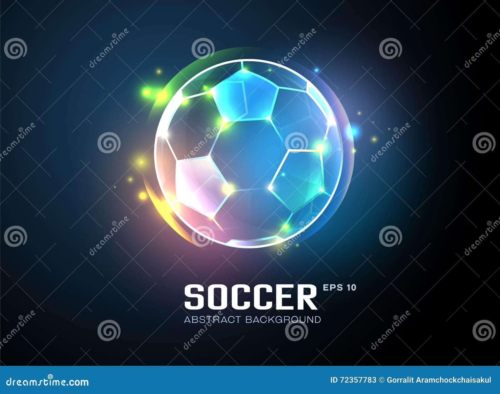 橄榄球有闪耀的轻的抽象背景
