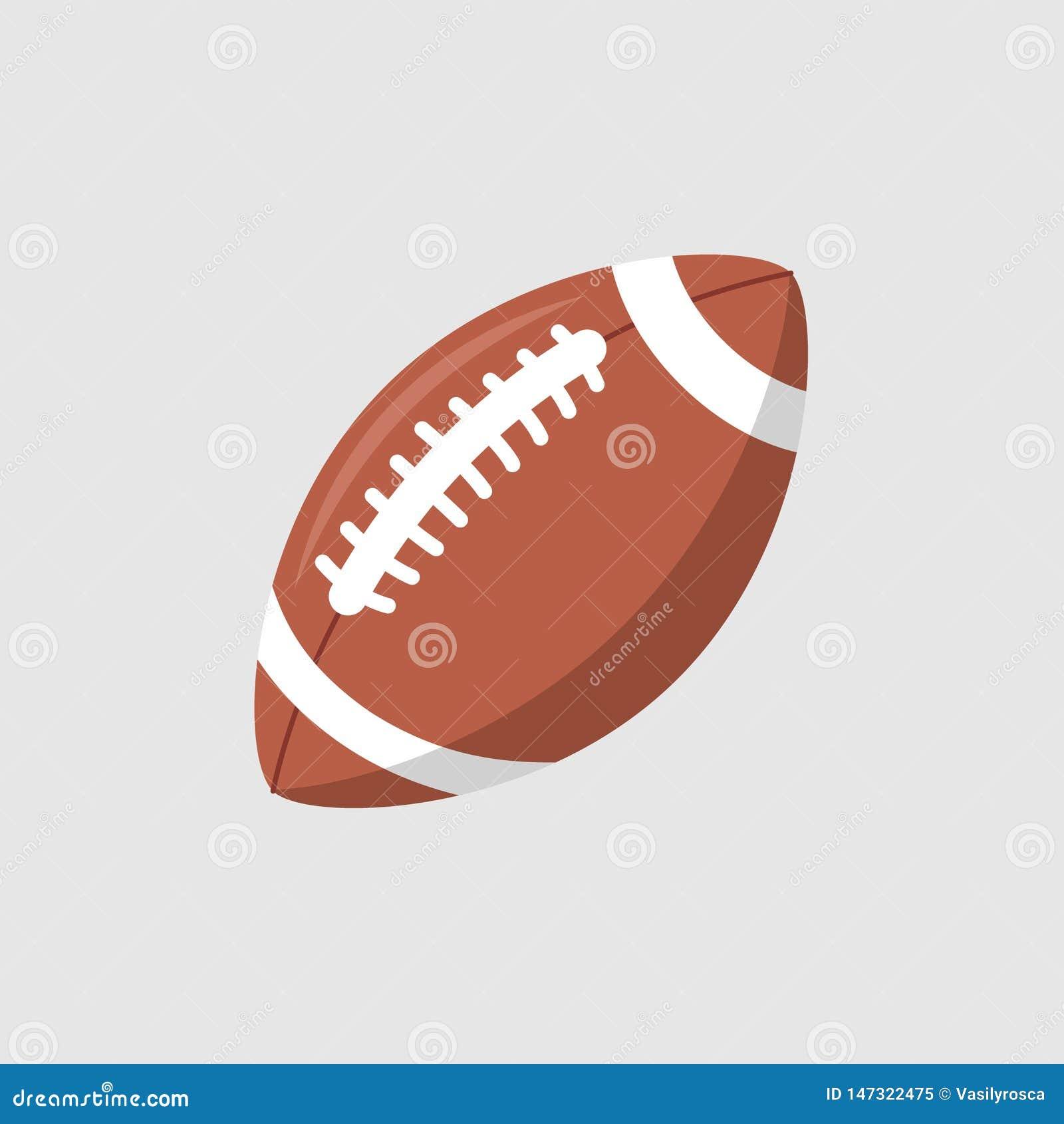 橄榄球球传染媒介象 橄榄球美国联盟商标被隔绝的卵形动画片球平的设计