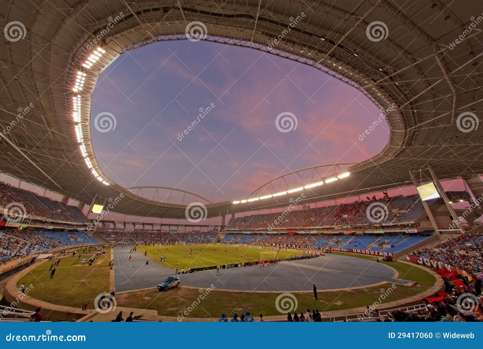 橄榄球赛Flamengo与Botafogo在里约热内卢巴西