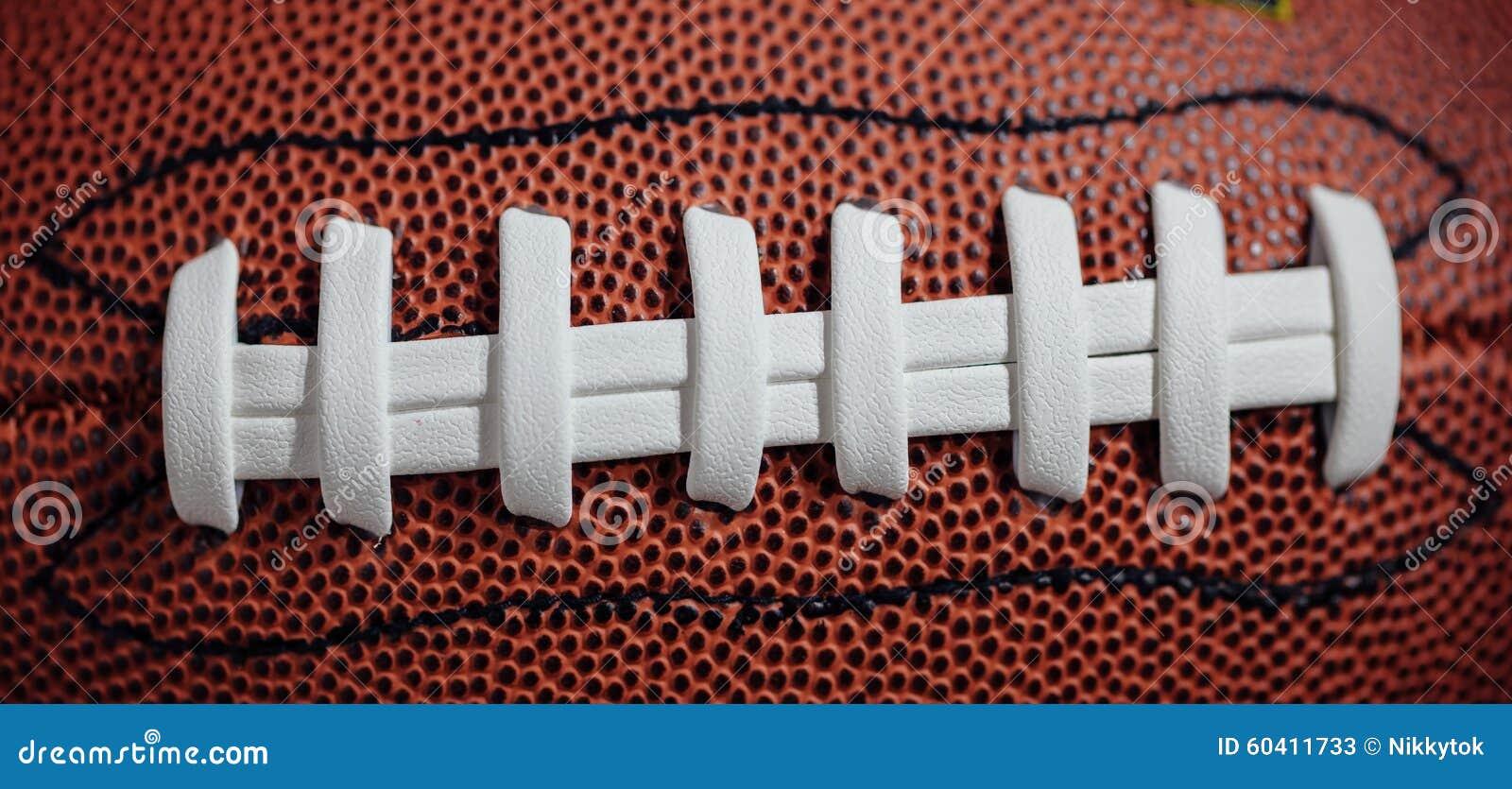 橄榄球鞋带和纹理