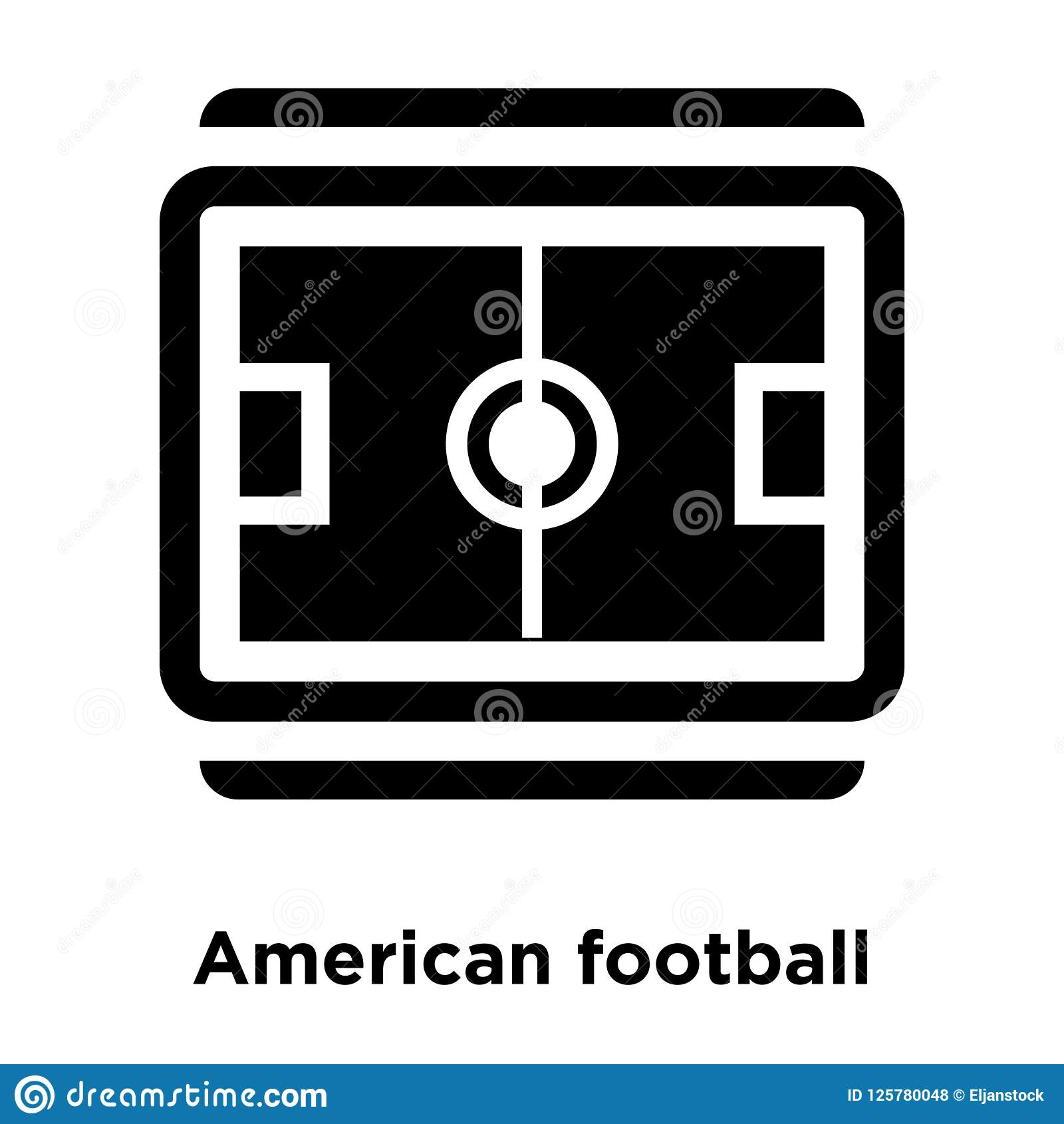 橄榄球领域顶视图在白色b隔绝的象传染媒介