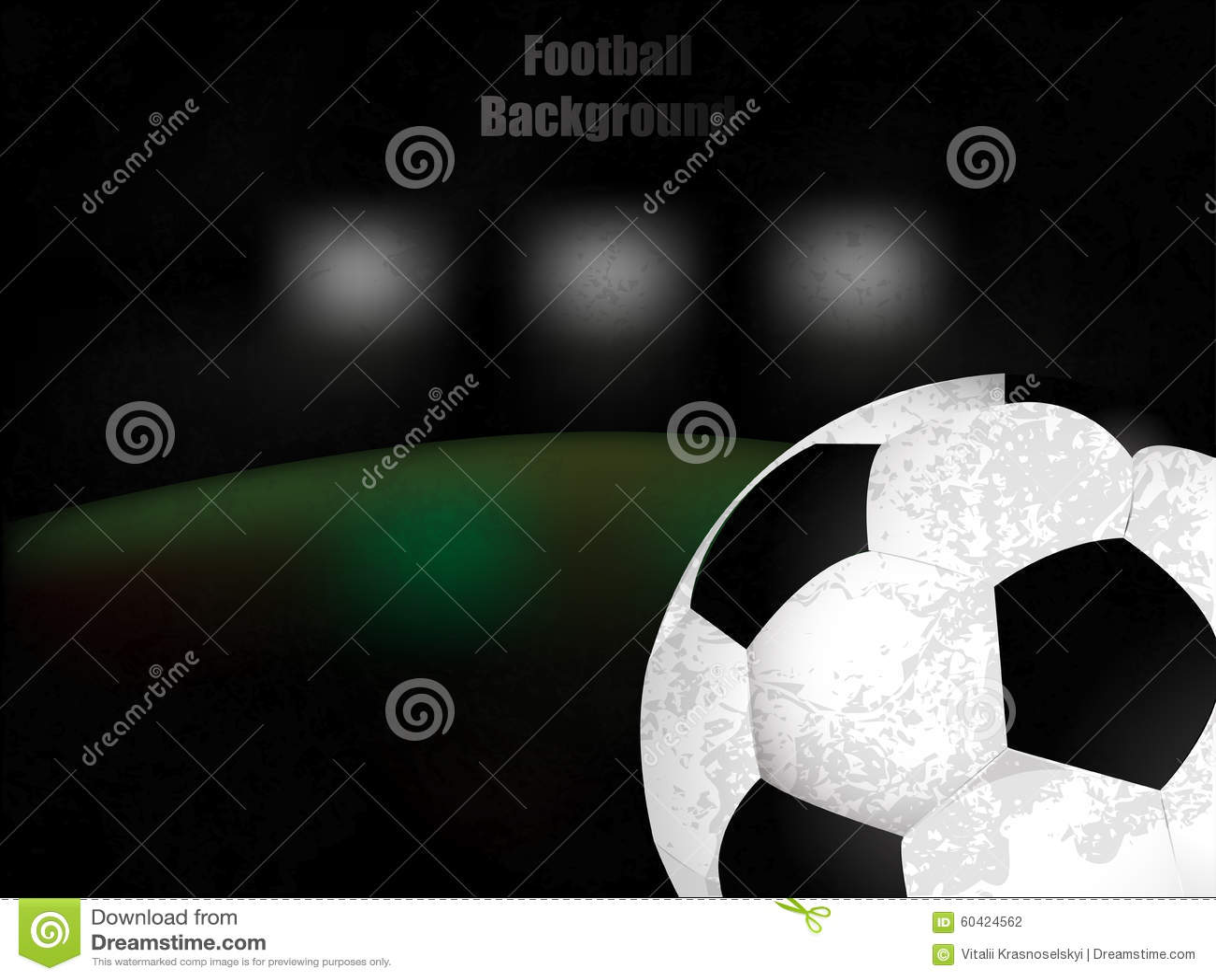 橄榄球,足球,与球的背景减速火箭的例证