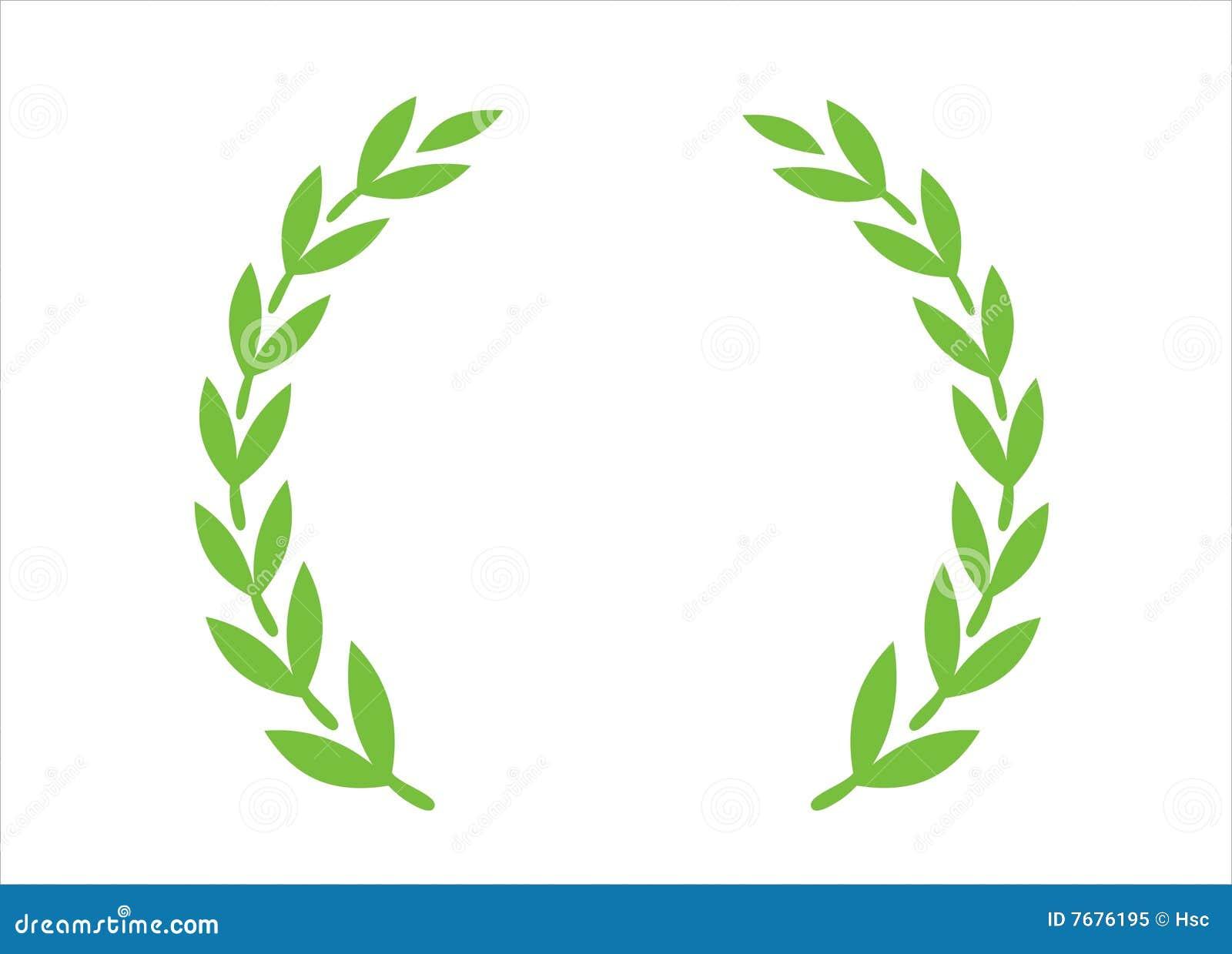橄榄色花圈