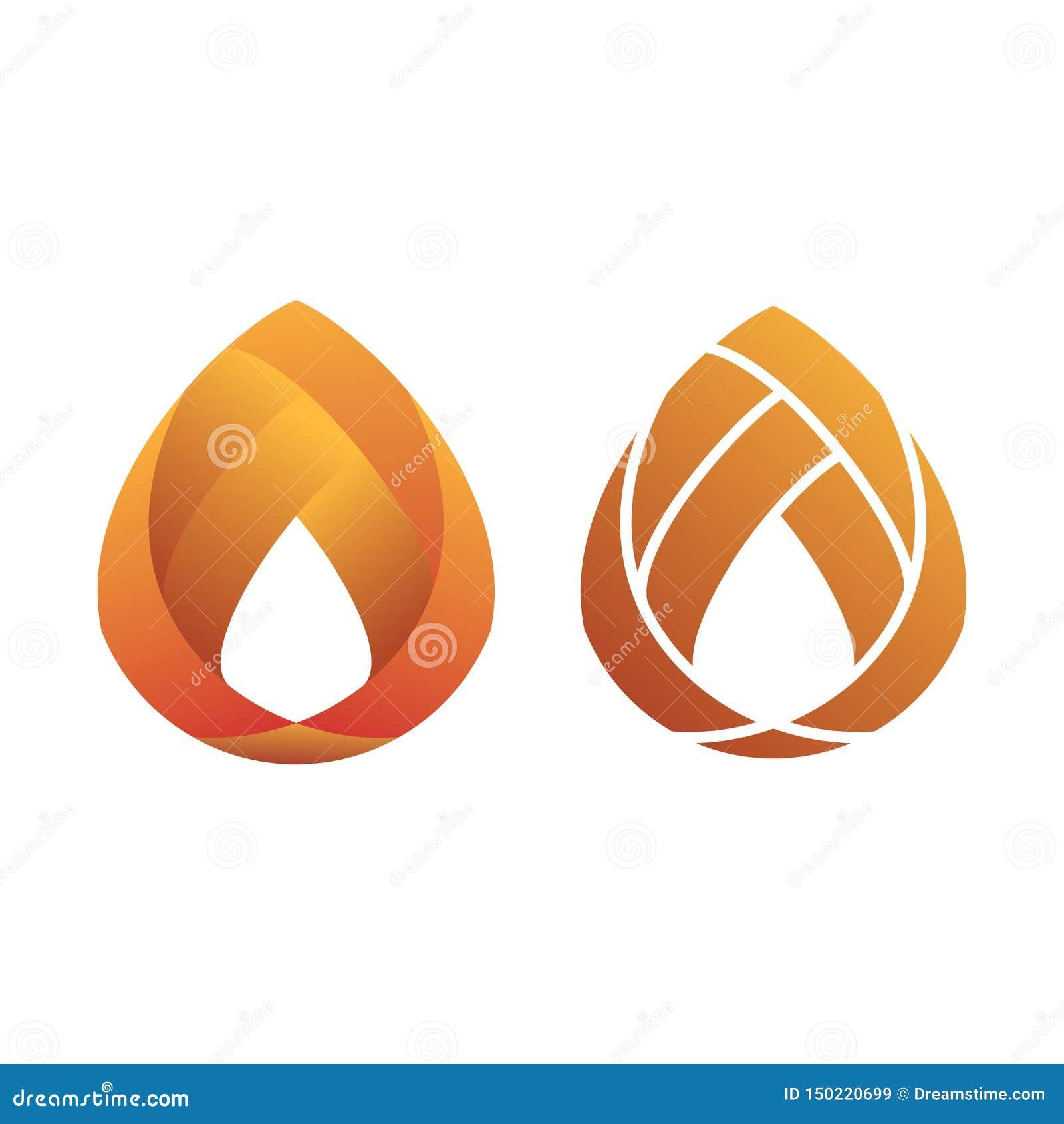 橙色梯度现代平的商标