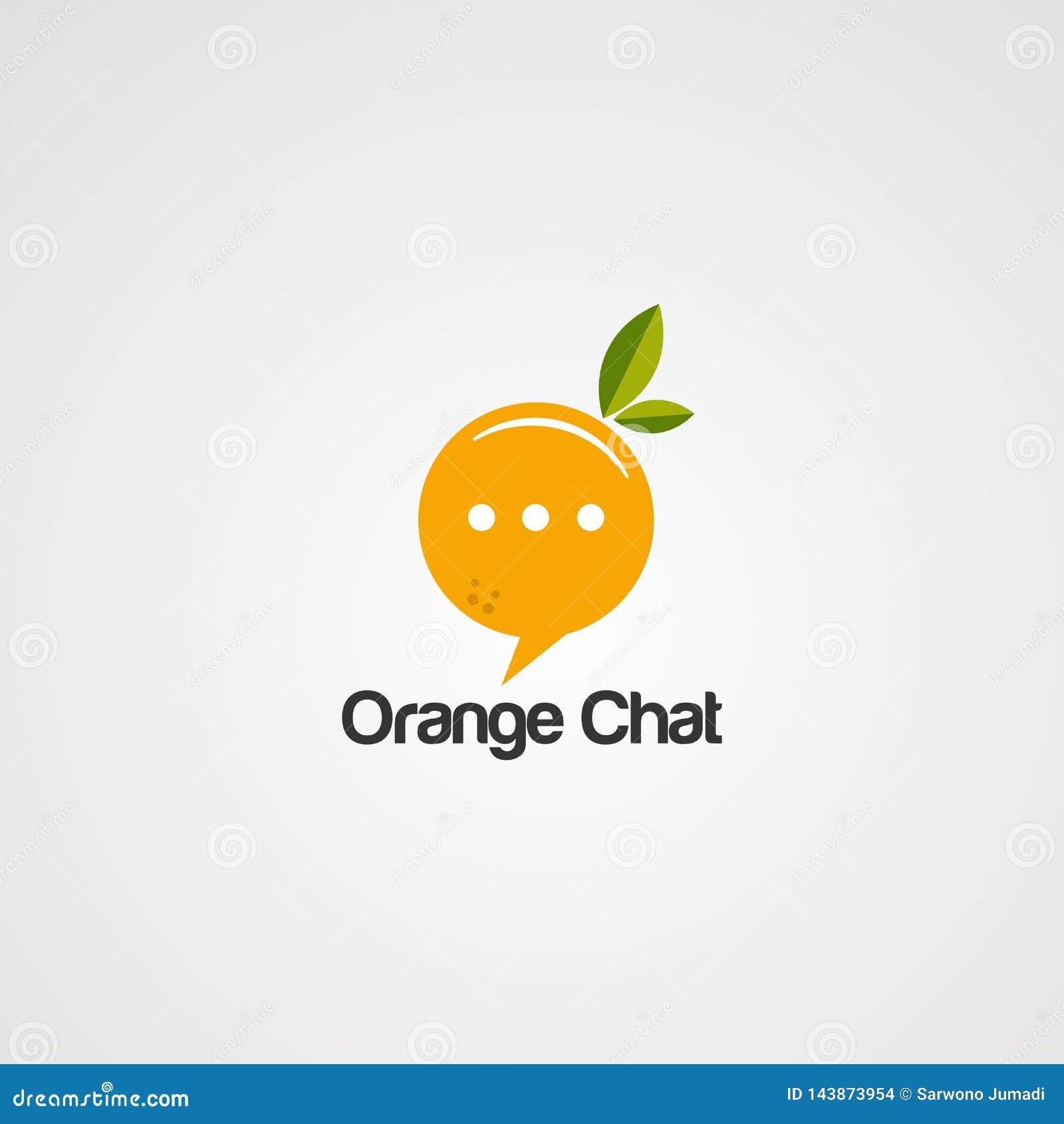 橙色闲谈商标传染媒介、象、元素和模板