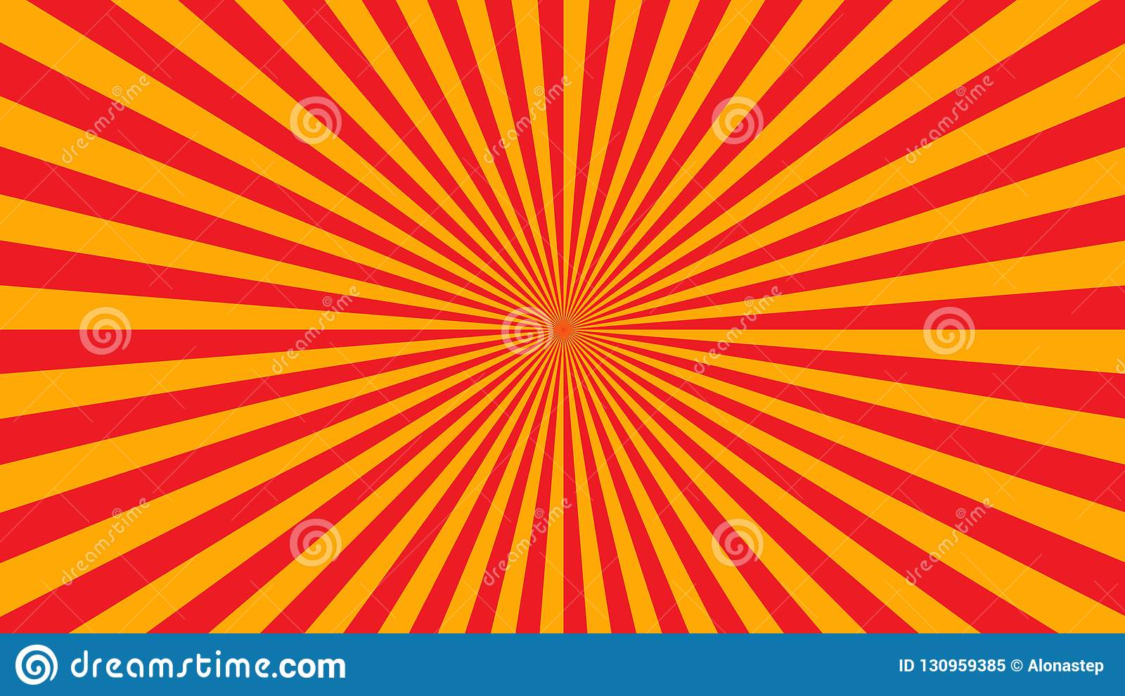 橙黄光芒海报