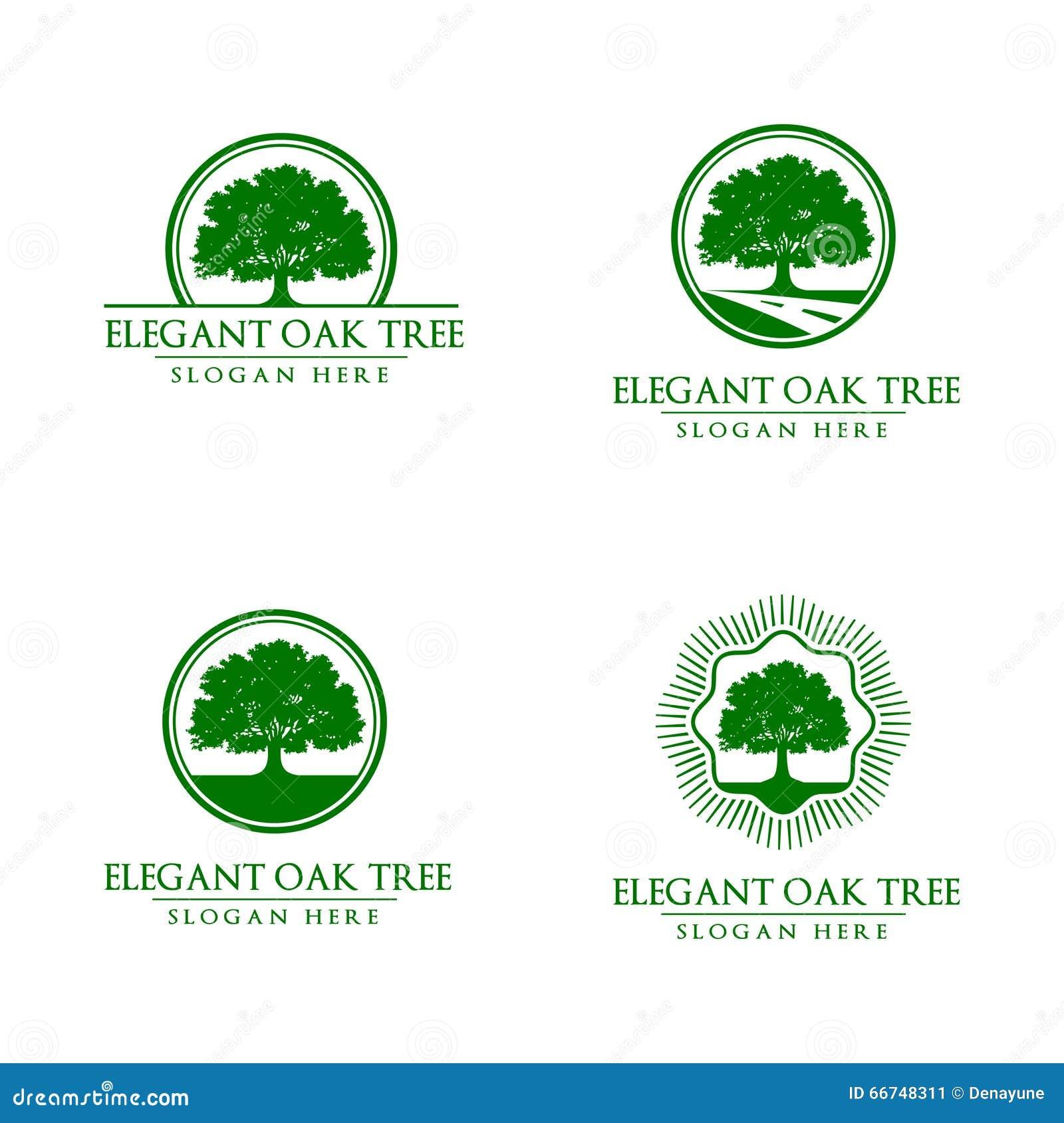 橡木,树,商标