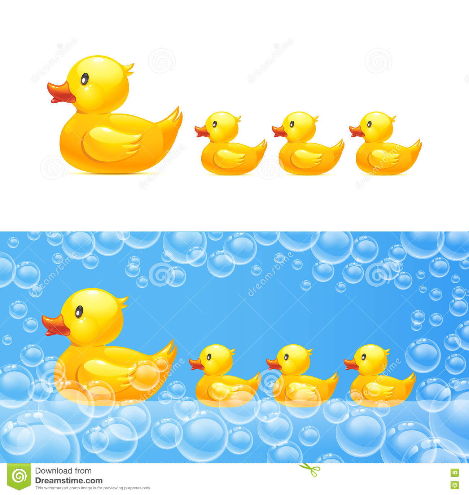 橡胶鸭子用鸭子 向量