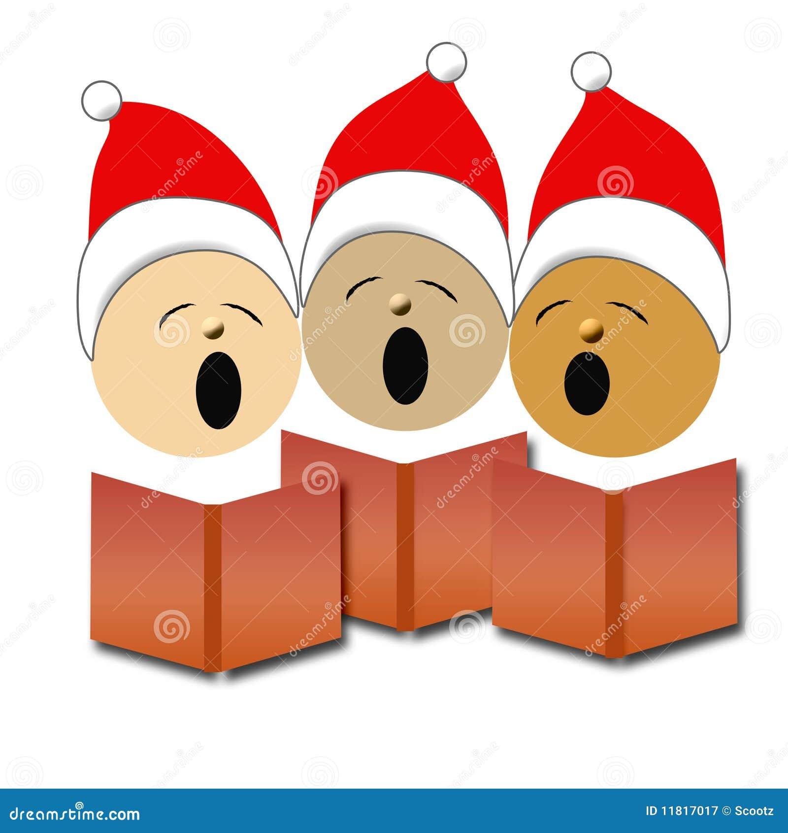 欢唱圣诞节例证