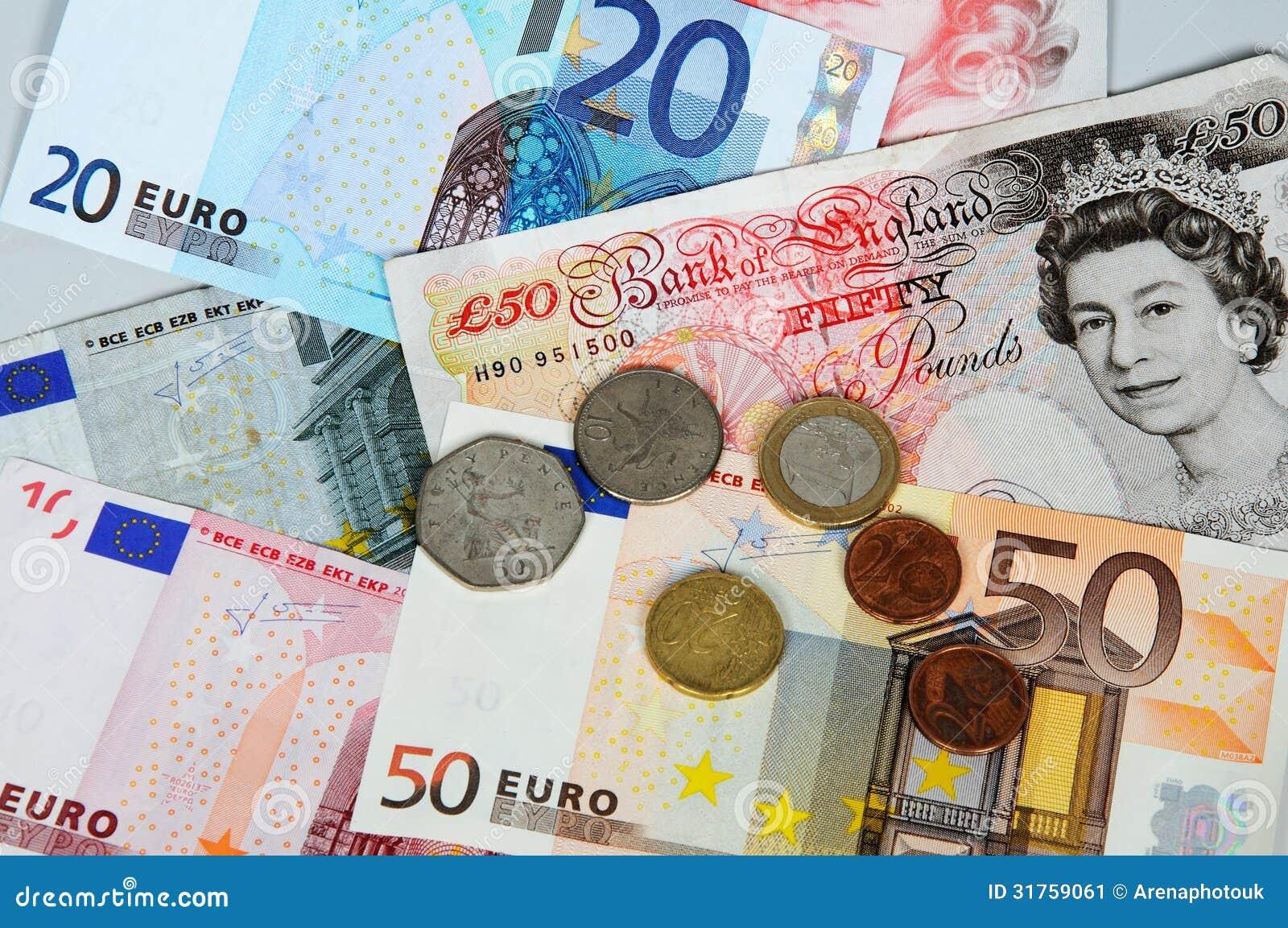 欧元和磅。
