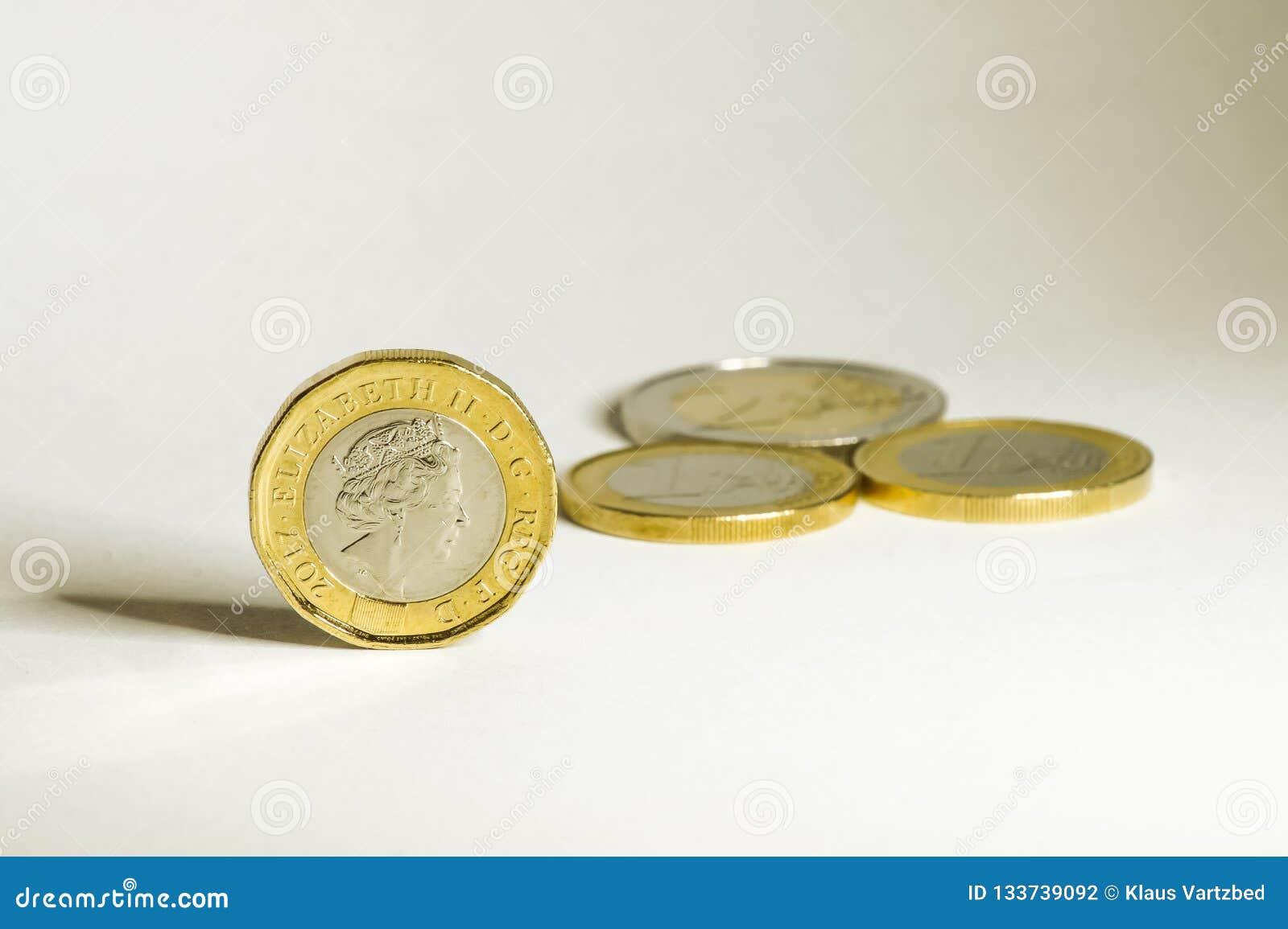 欧元和磅硬币在brexit前后