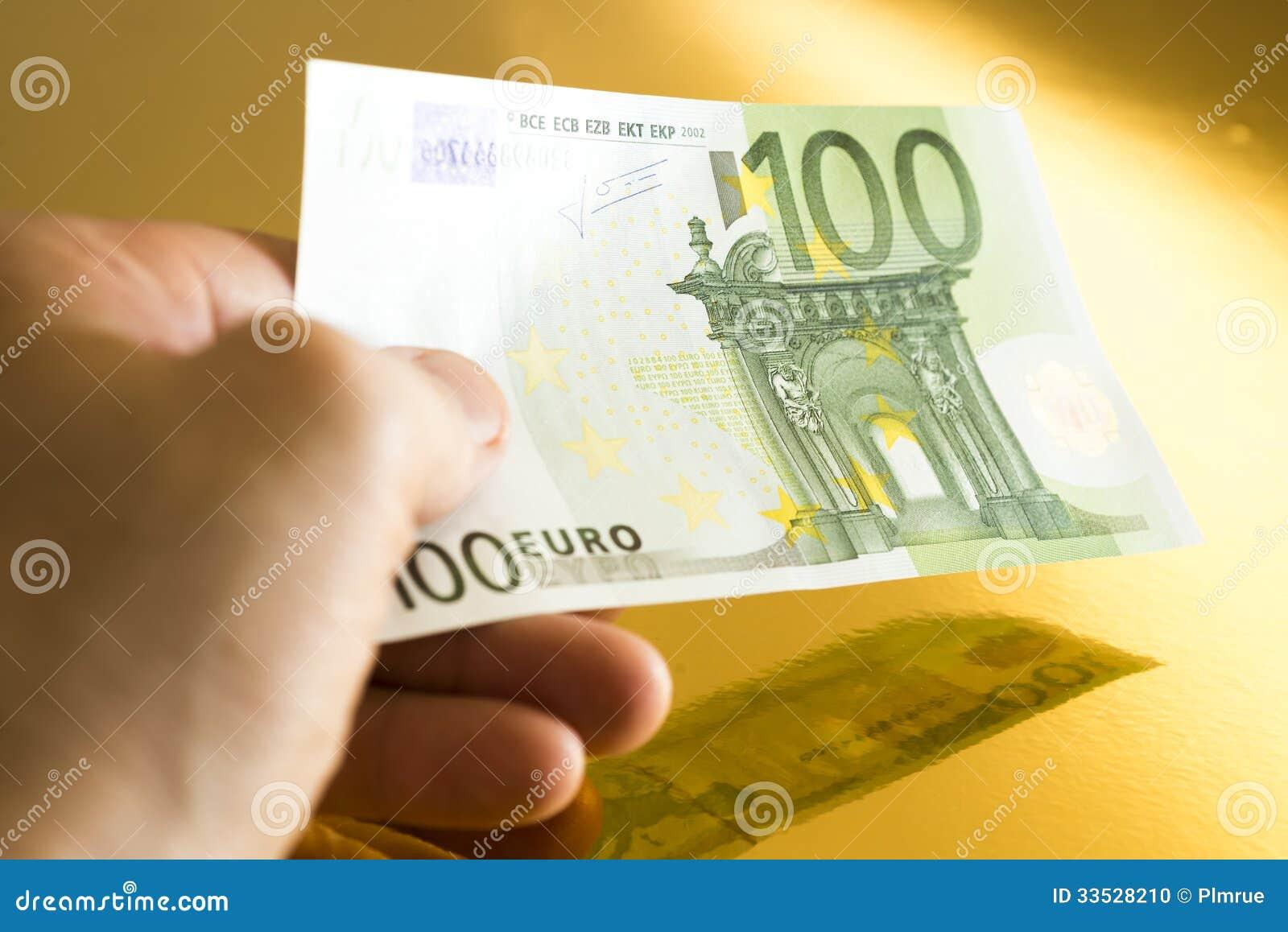 100欧元图片