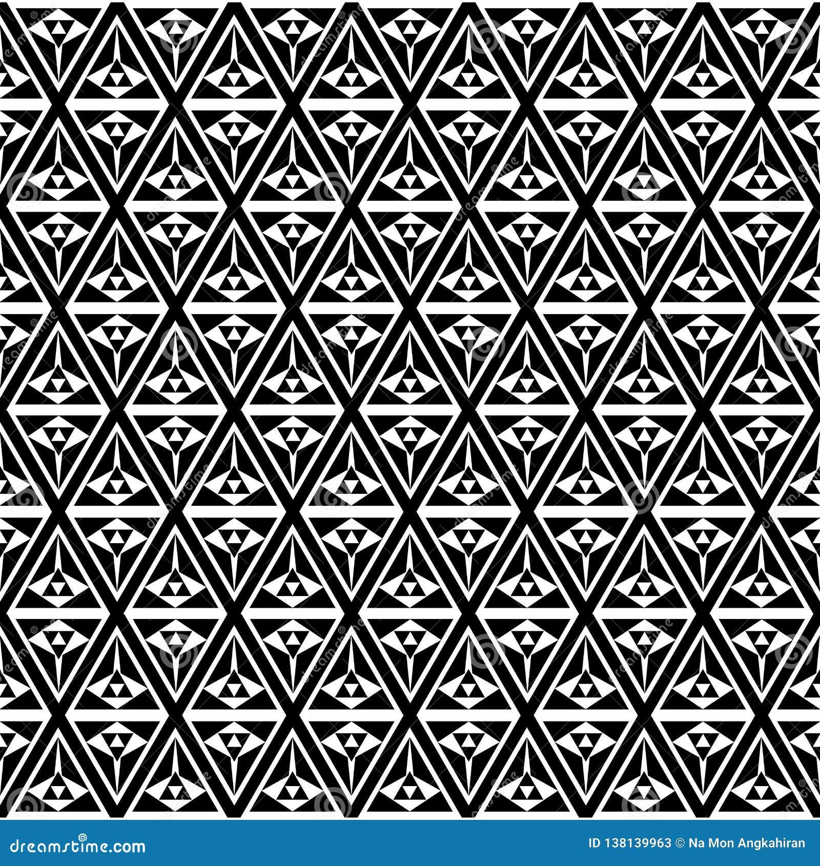 欧普艺术黑白三角样式背景