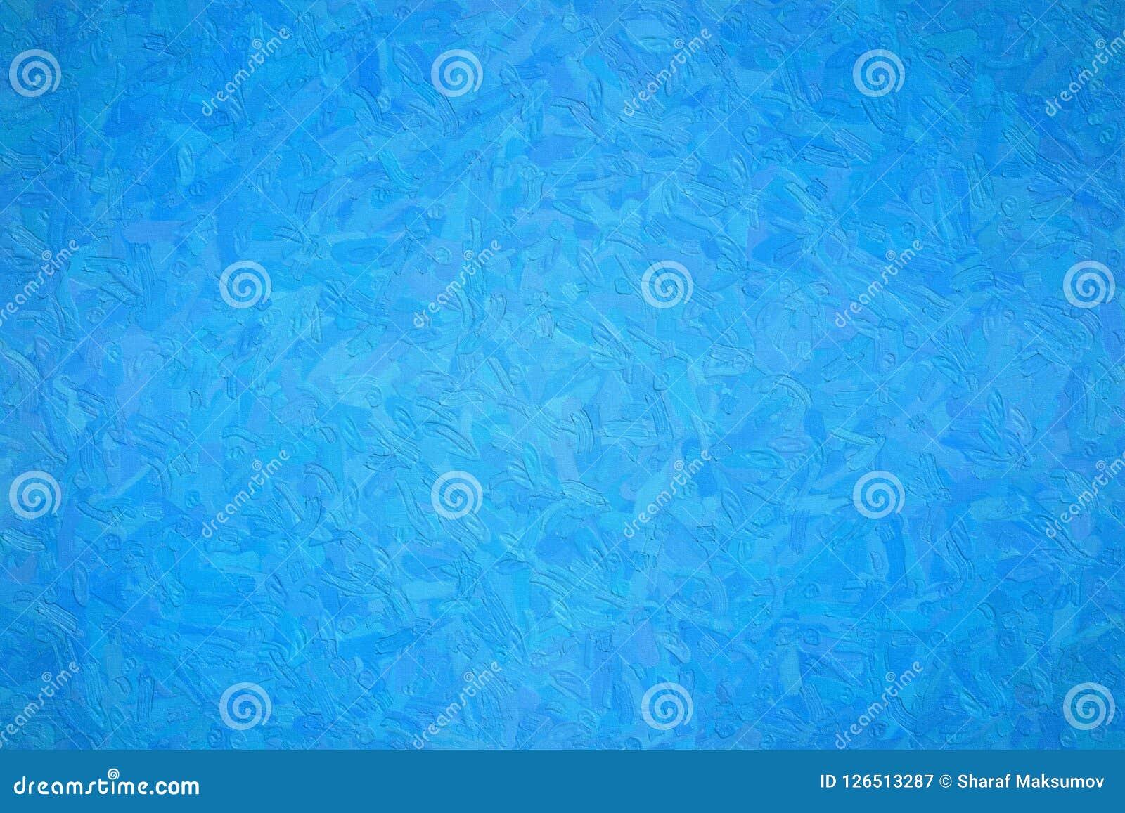欺骗者与大刷子的蓝色Impasto的抽象例证抚摸背景,数位引起