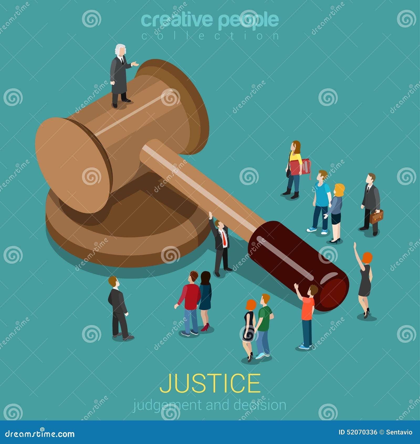 正义和法律、评断和决定平的3d等量概念