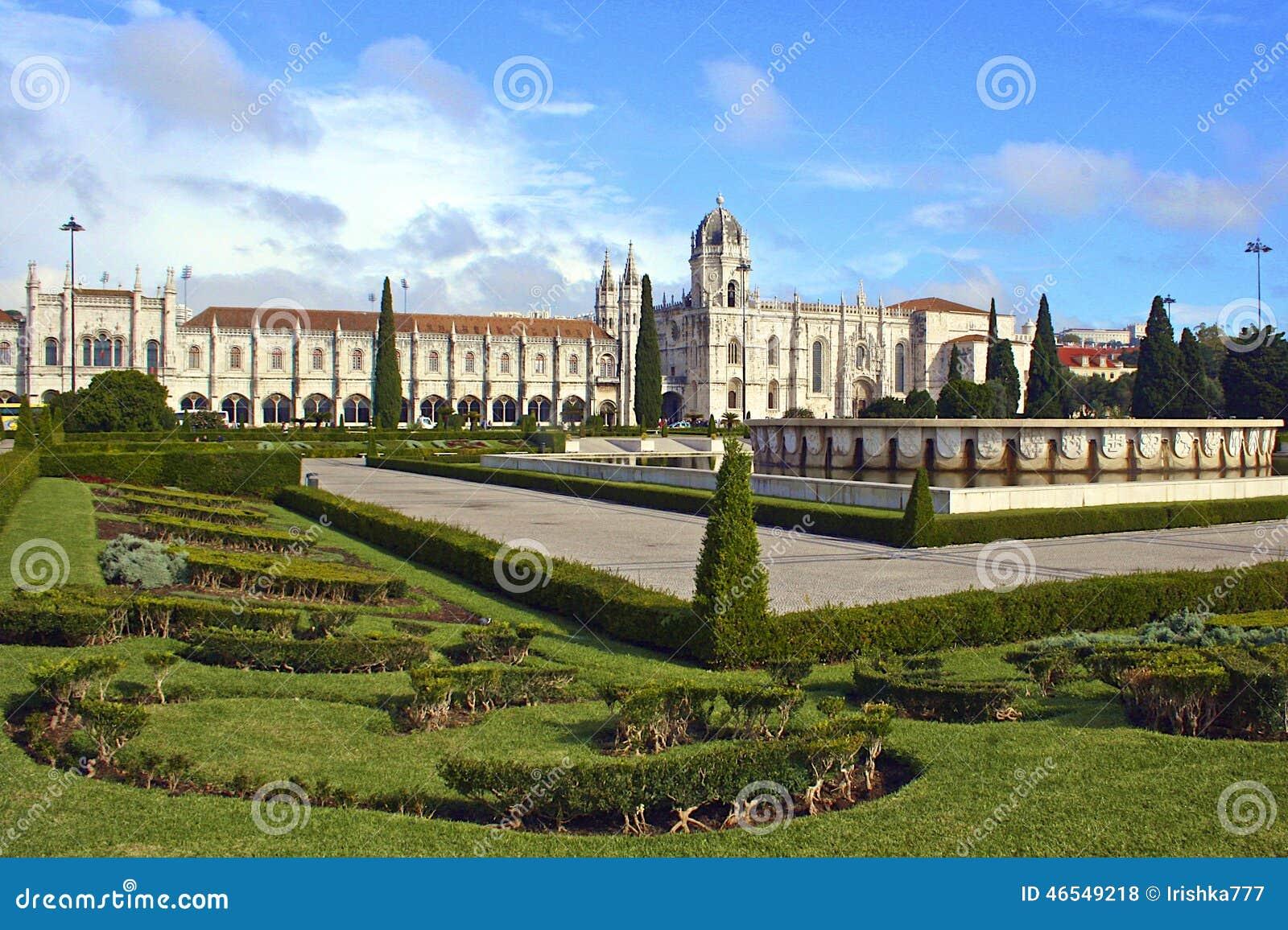 正方形和修道院在里斯本,葡萄牙