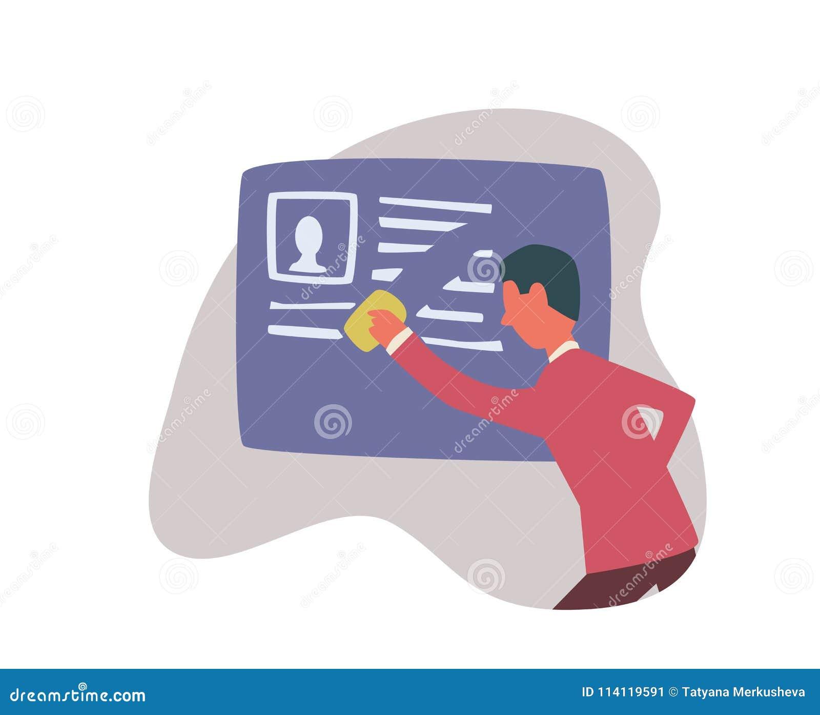 正确在互联网被忘记 一个人删掉关于他自己的信息 概念被隔绝的传染媒介例证