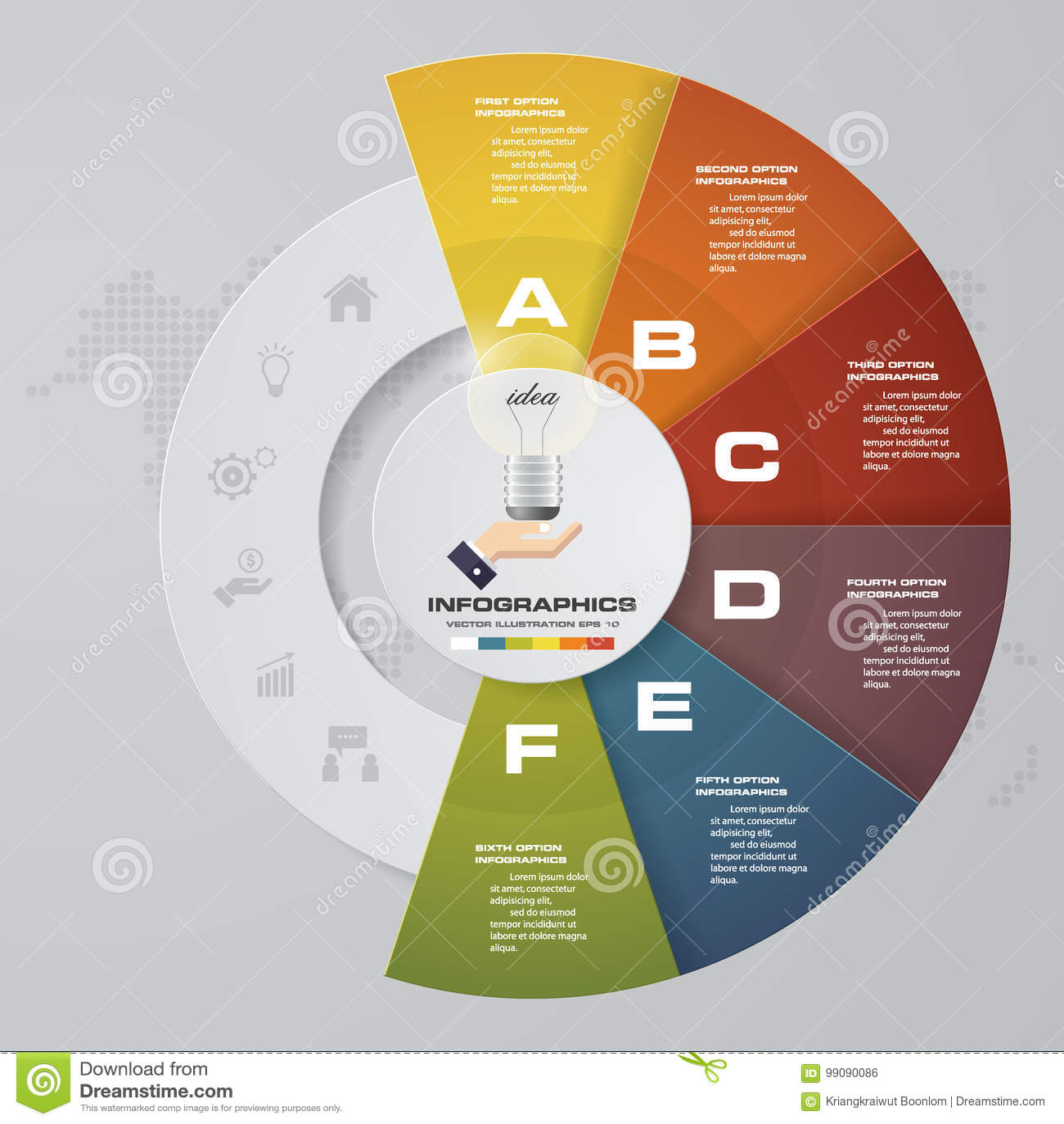 6步过程 Simple&Editable摘要设计元素 向量