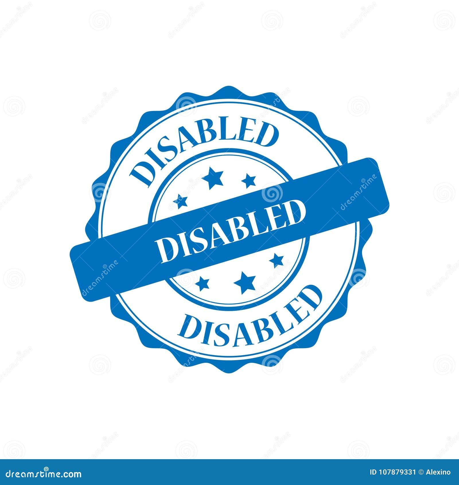 残疾盖印例证