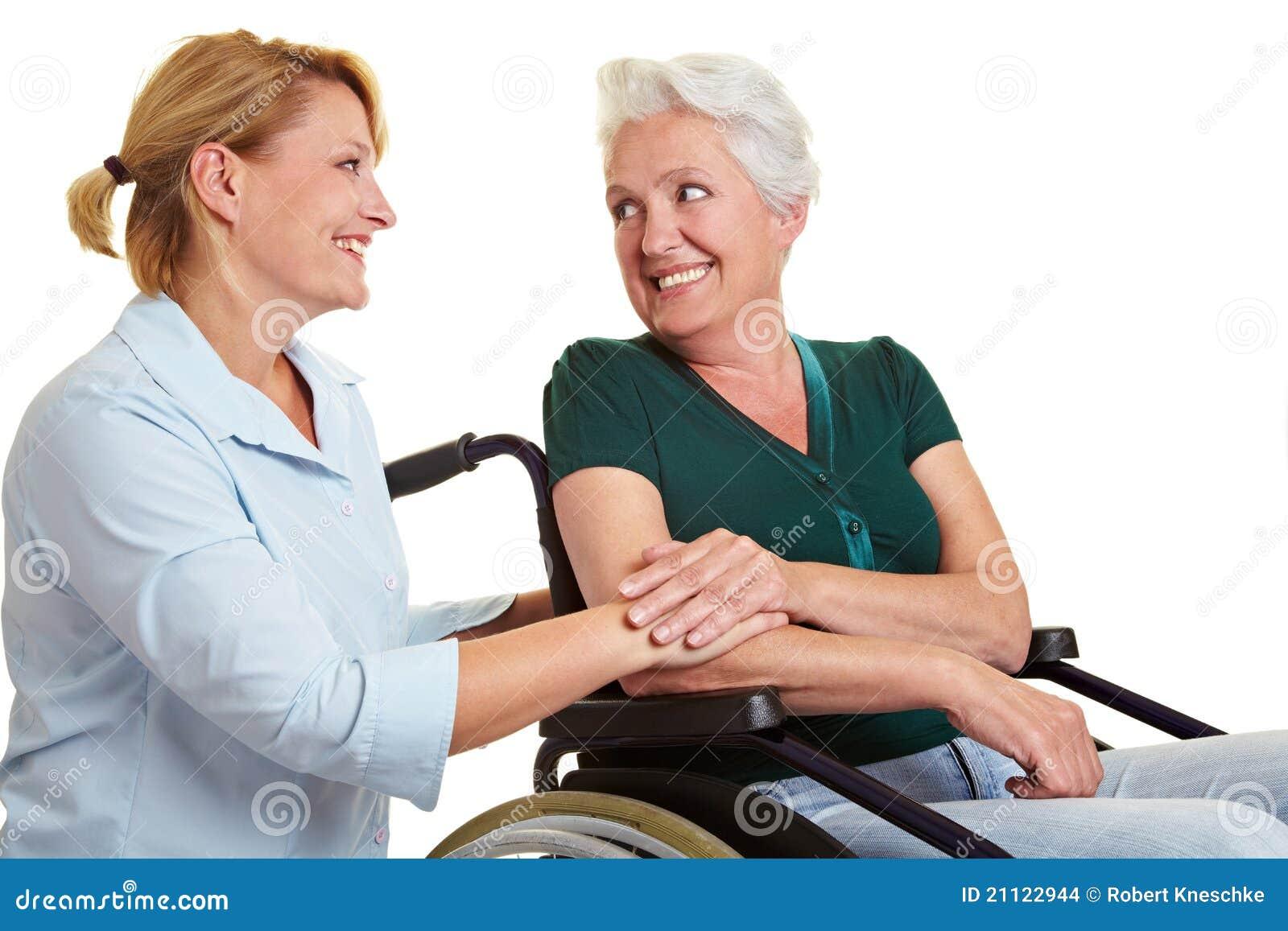 残疾eldercare前辈妇女