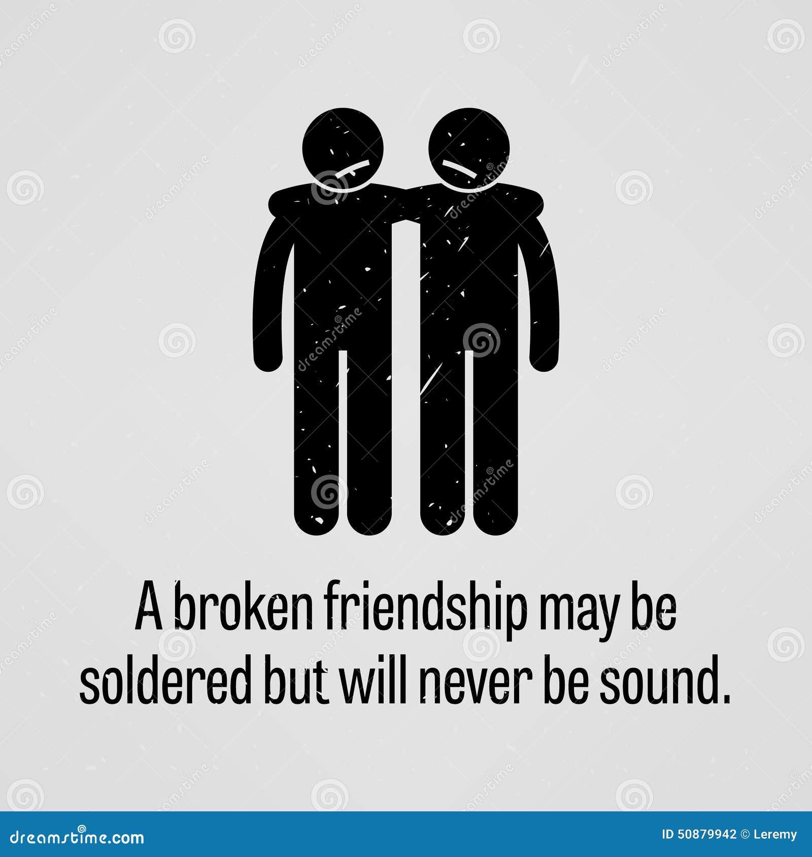 残破的友谊可能不被焊接,但是声音