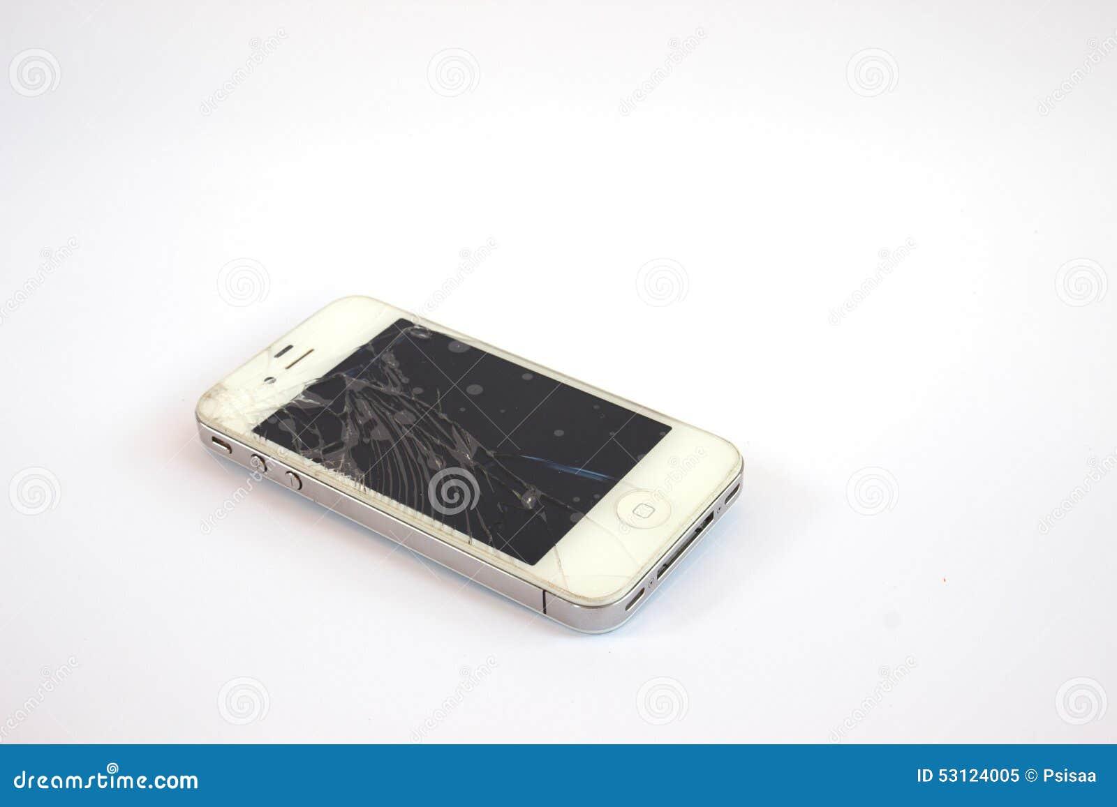 残破的移动电话