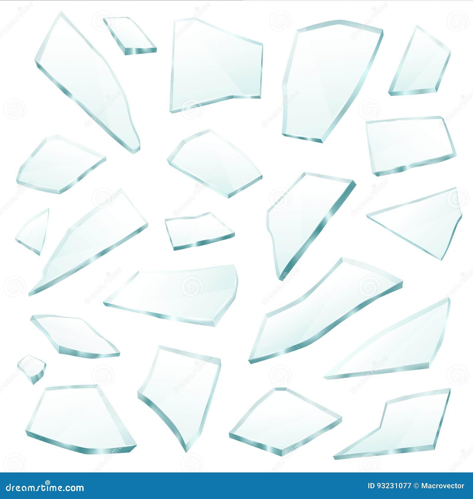 残破的玻璃分割碎片现实集合